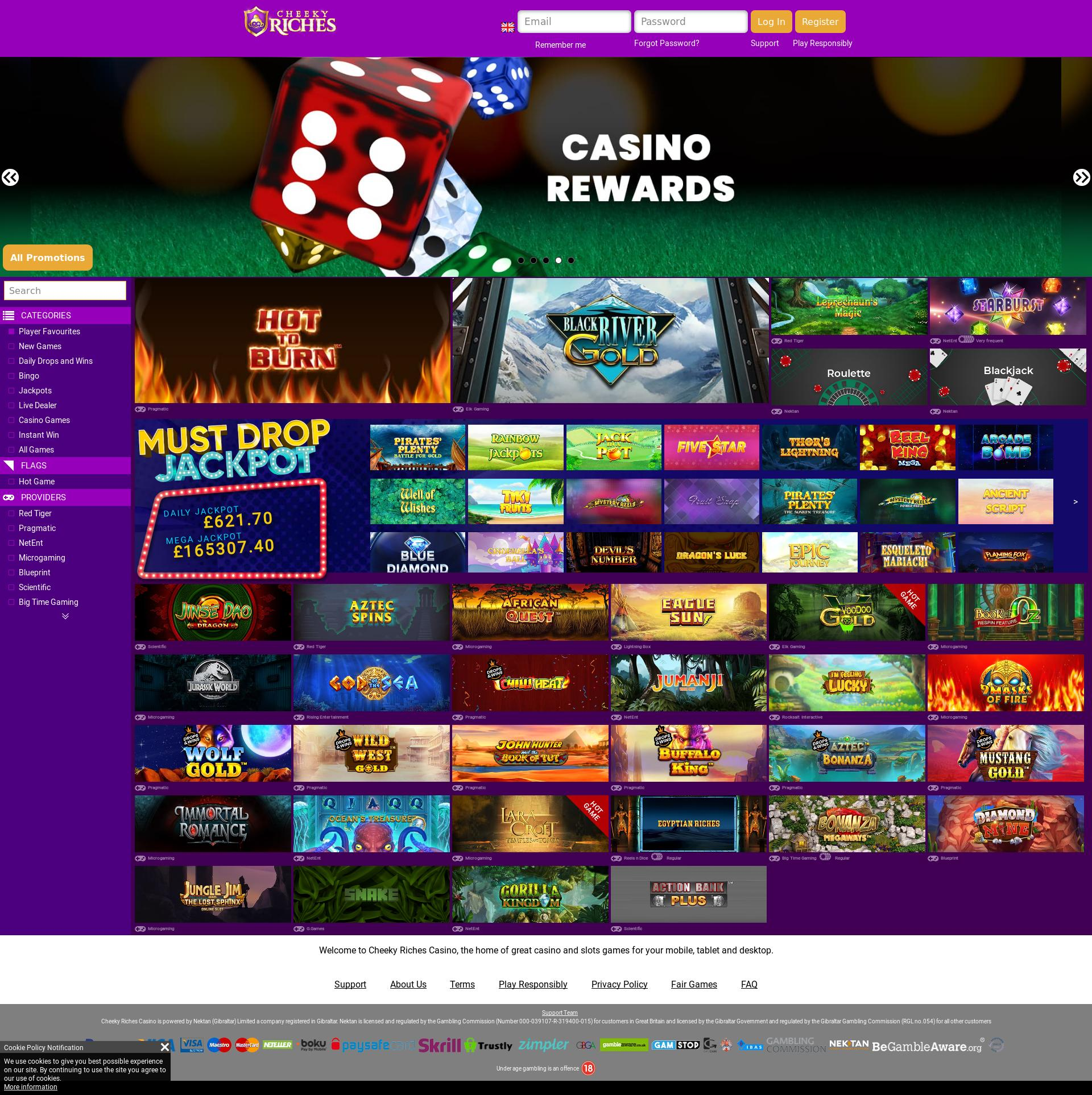 Casino screen Lobby 2020-05-31 for United Kingdom