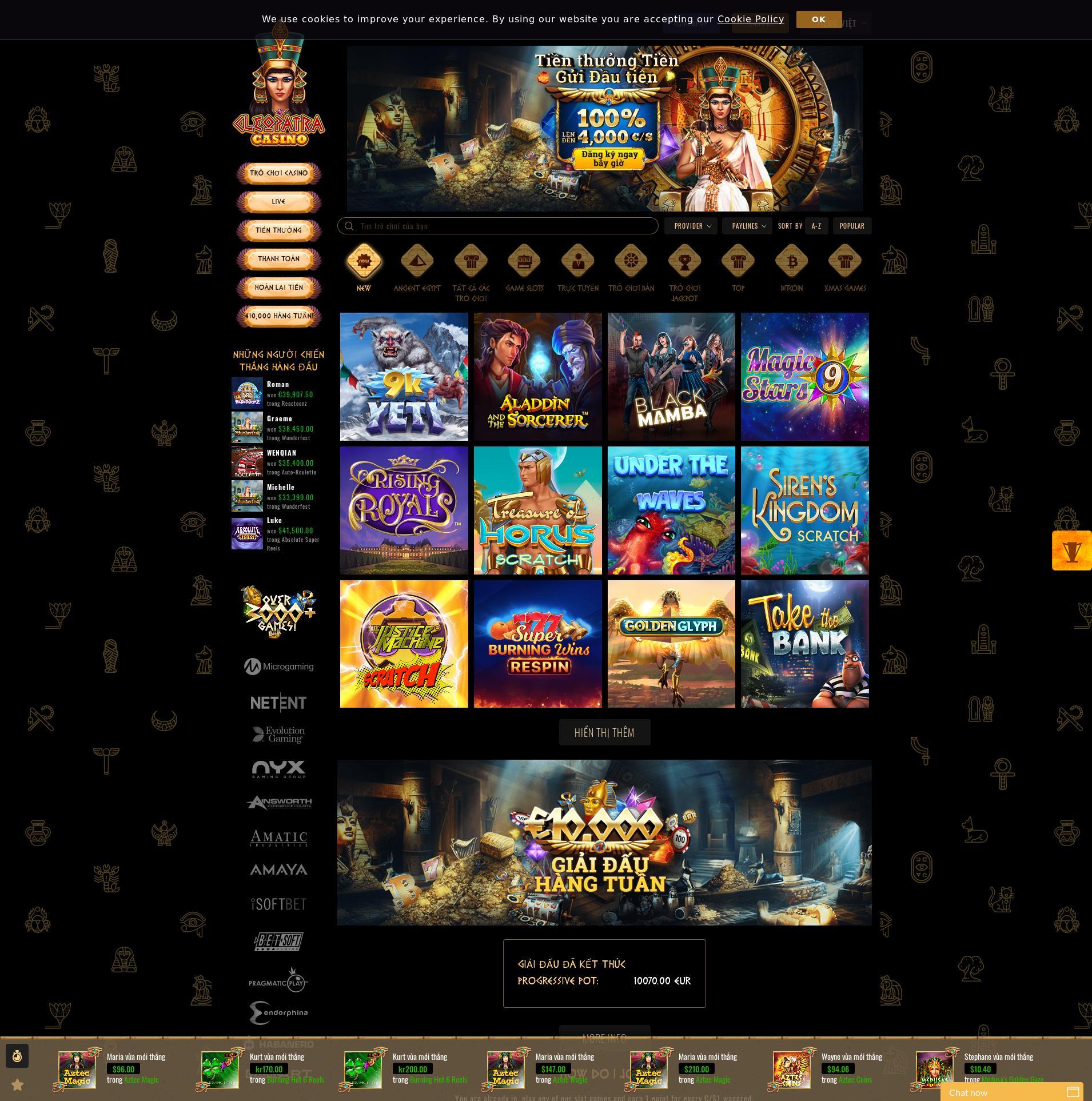 Màn hình Casino Lobby 2019-11-16 cho Việt Nam