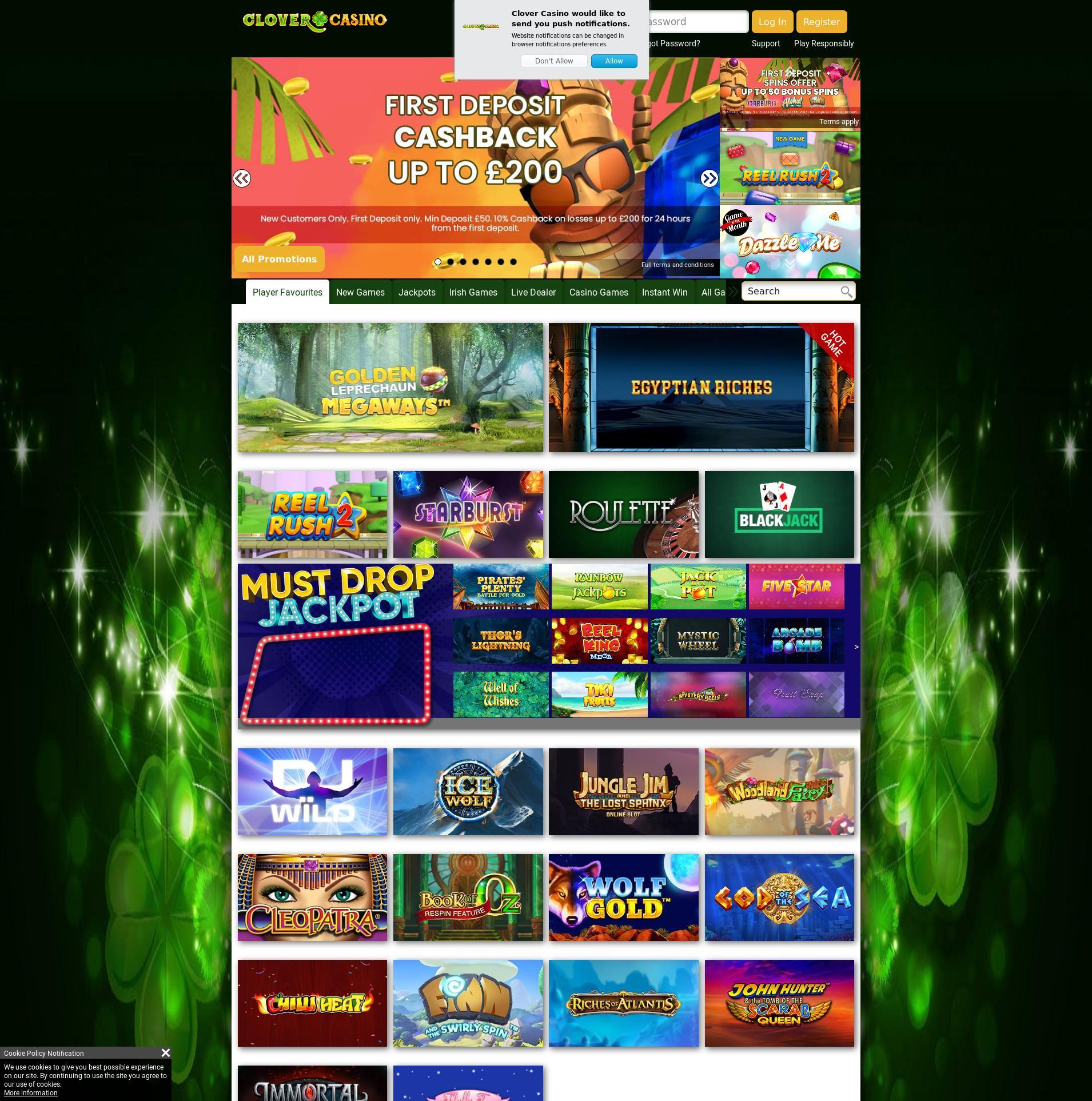 Casino screen Lobby 2019-11-21 for United Kingdom