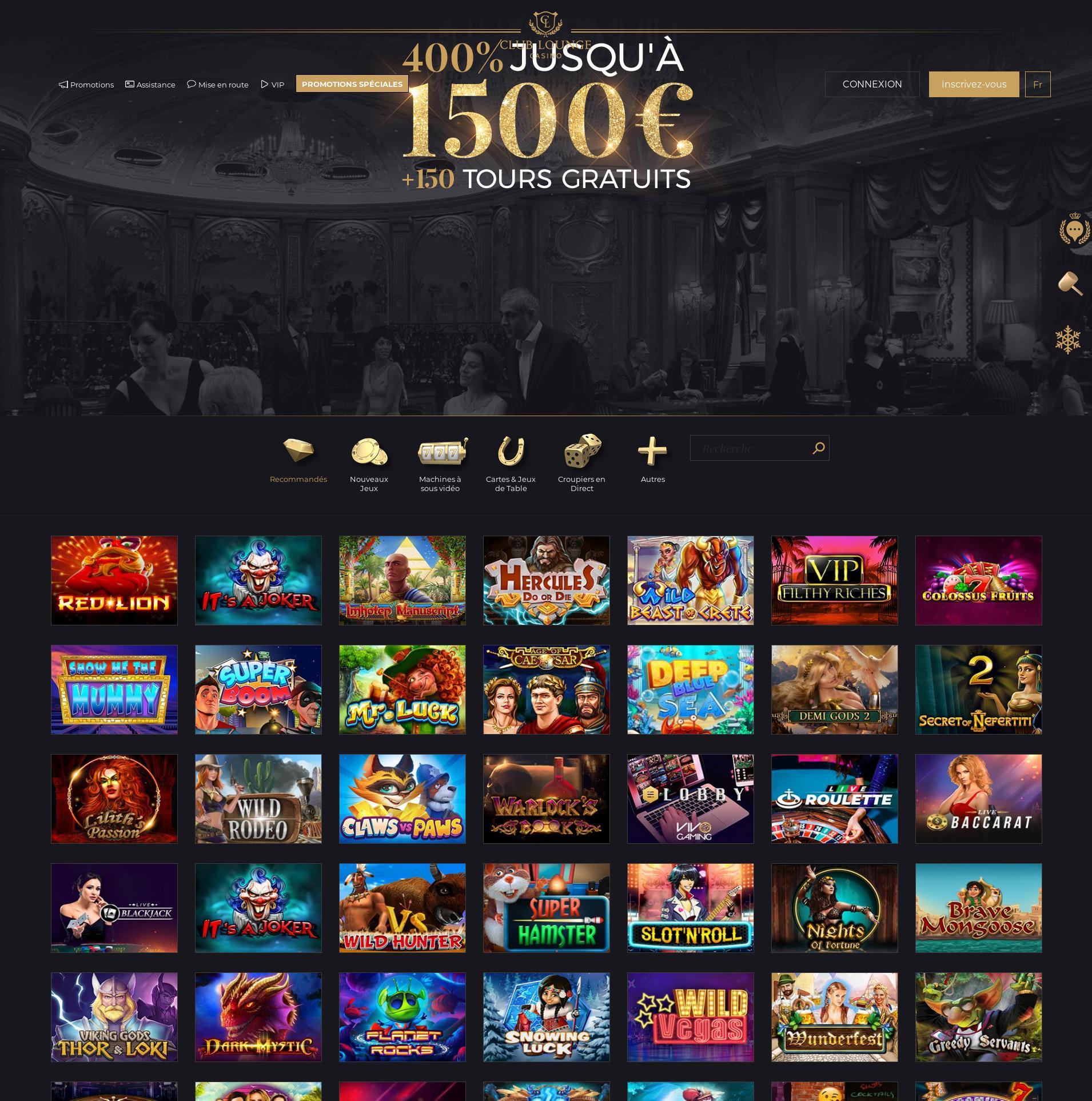 Écran de casino Lobby 2020-01-21 pour France