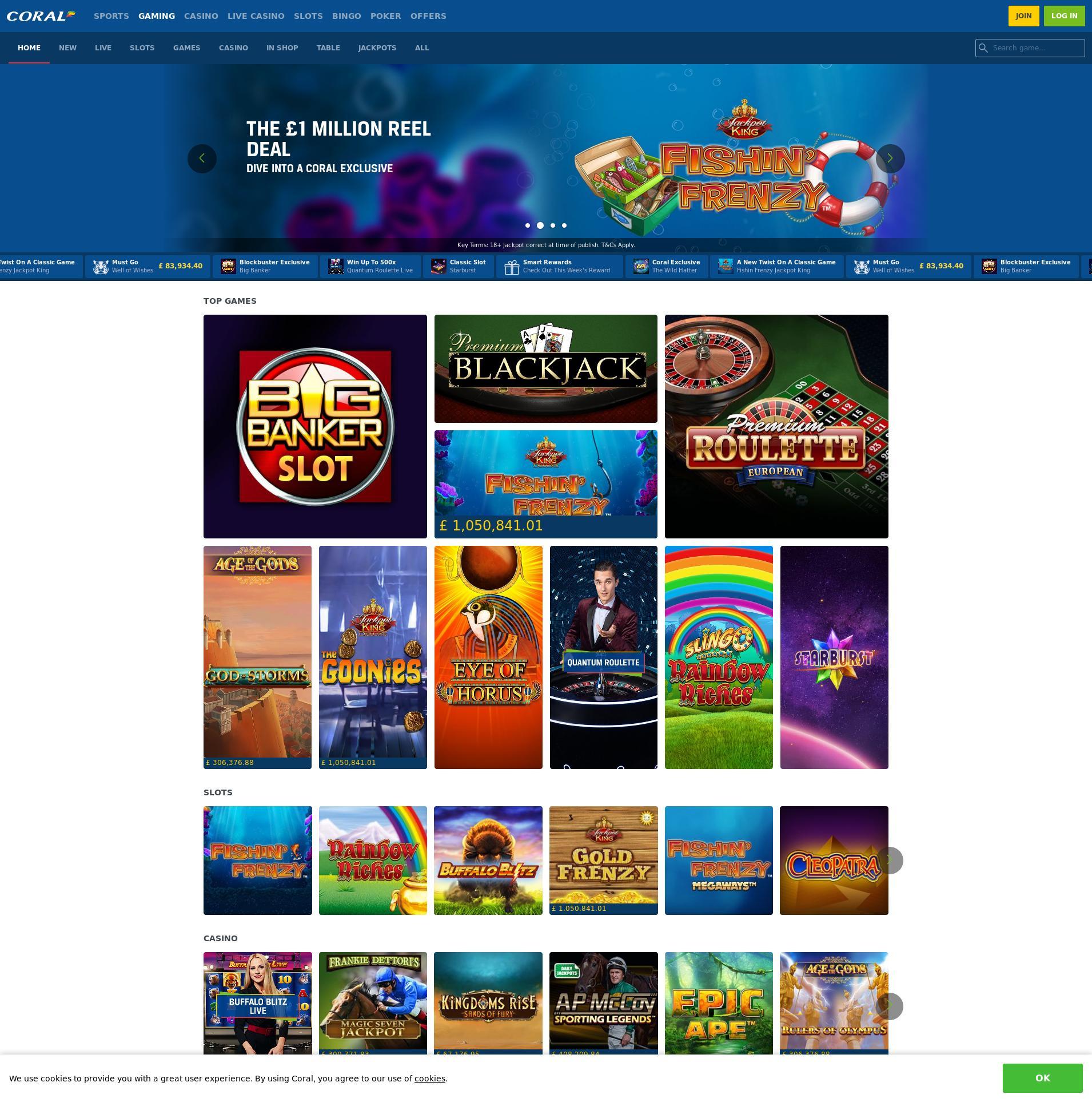 Casino screen Lobby 2020-01-21 for United Kingdom