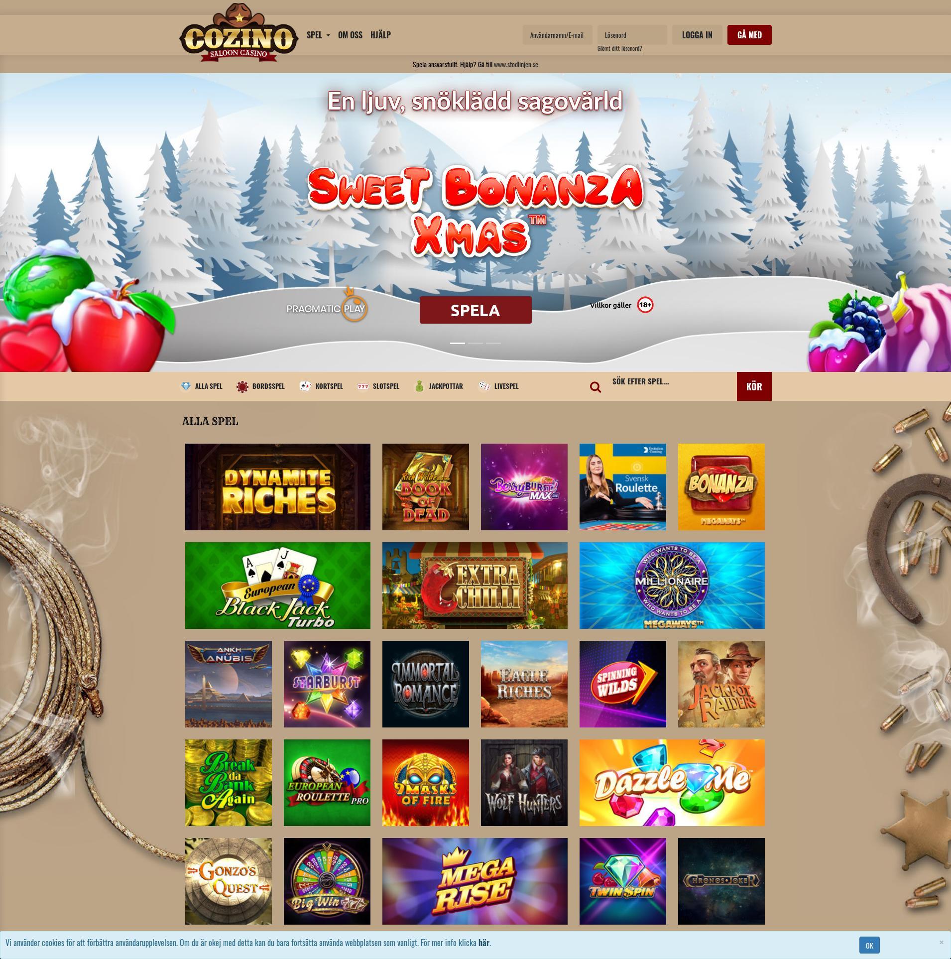 Casino skärm Lobby 2019-12-09 för Sverige