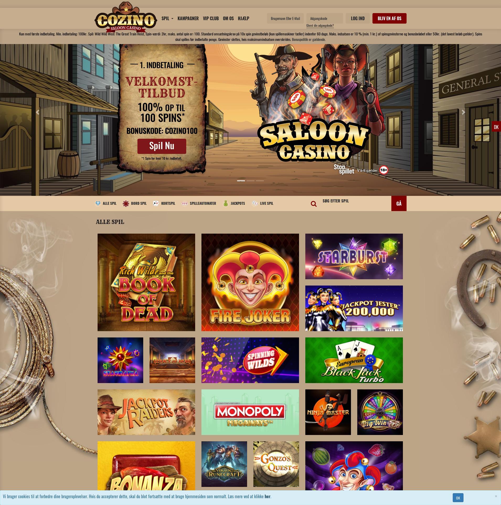Pantalla de casino Lobby 2020-01-22 para Dinamarca