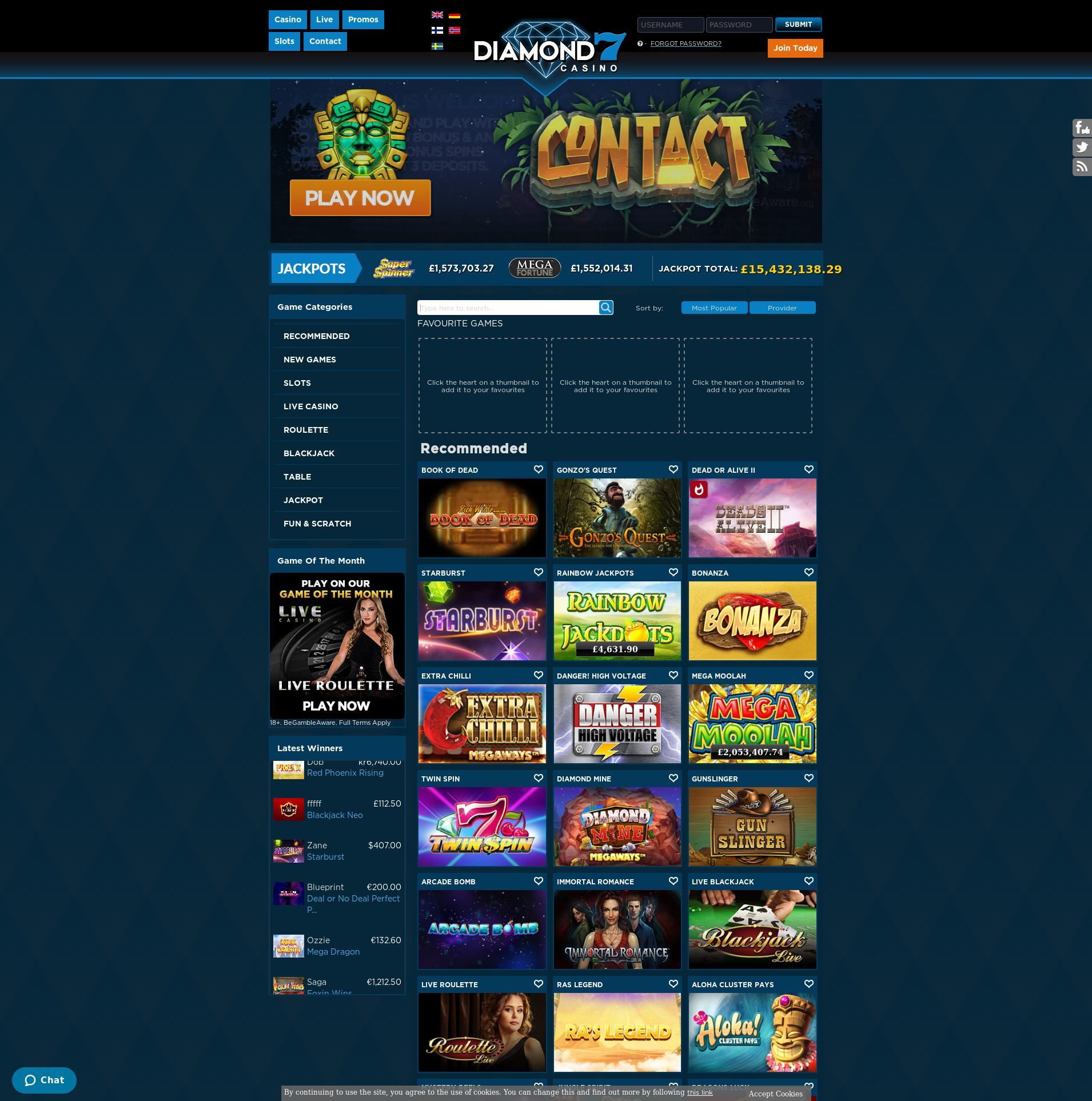 Casino-näyttö Lobby 2020-05-28 varten Yhdistynyt kuningaskunta