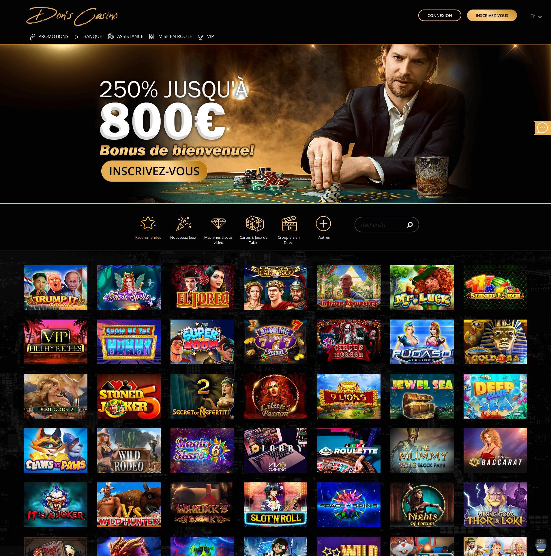 Casino screen Lobby 2019-07-17 for France