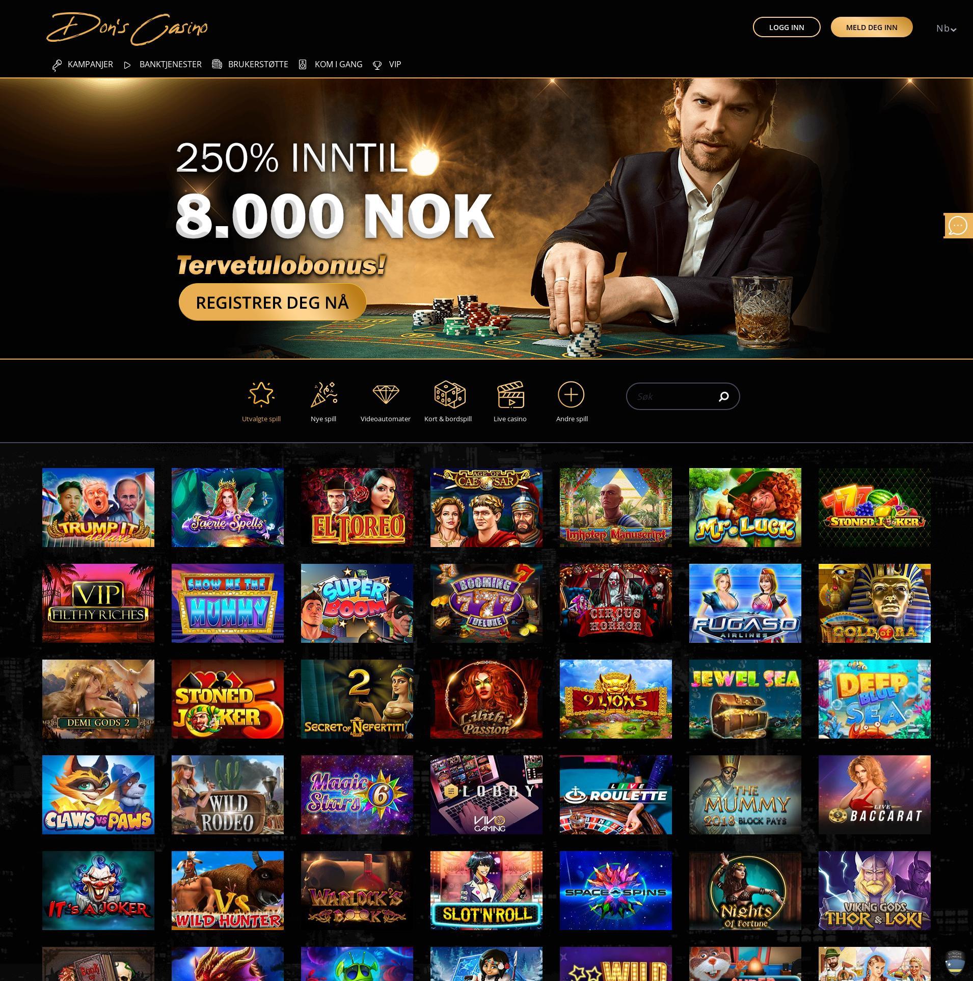 Casino screen Lobby 2019-07-17 for Norway