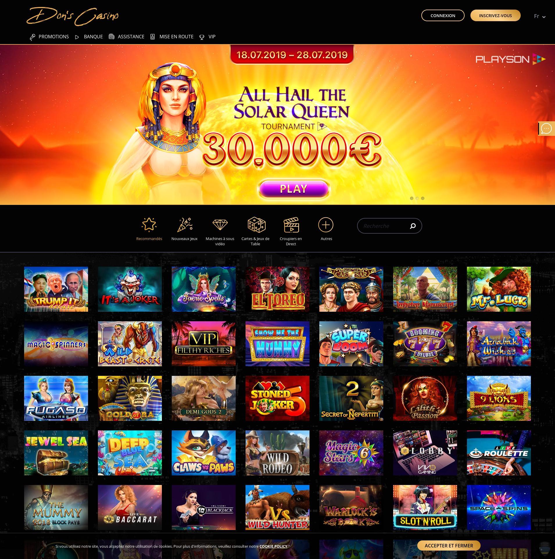 Écran de casino Lobby 2019-11-16 pour France