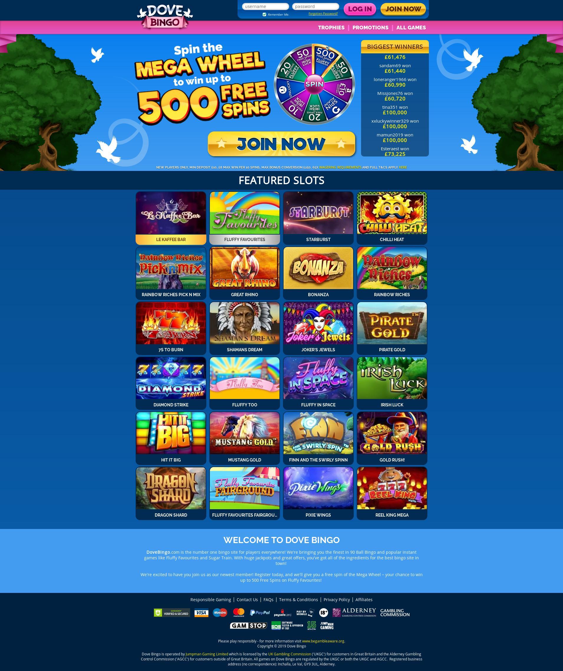 Casino screen Lobby 2019-06-15 for United Kingdom