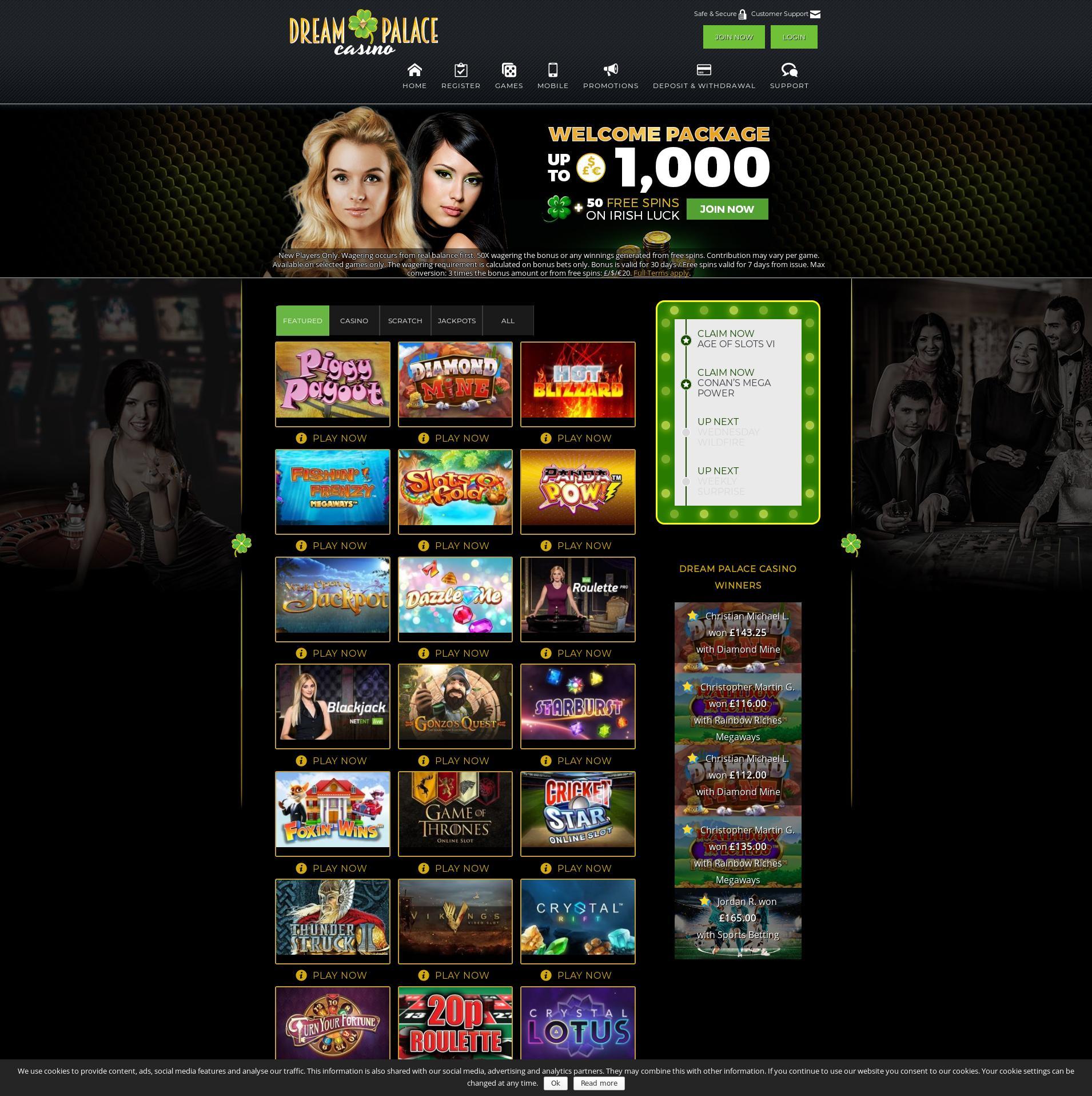 Casino screen Lobby 2019-09-19 for United Kingdom
