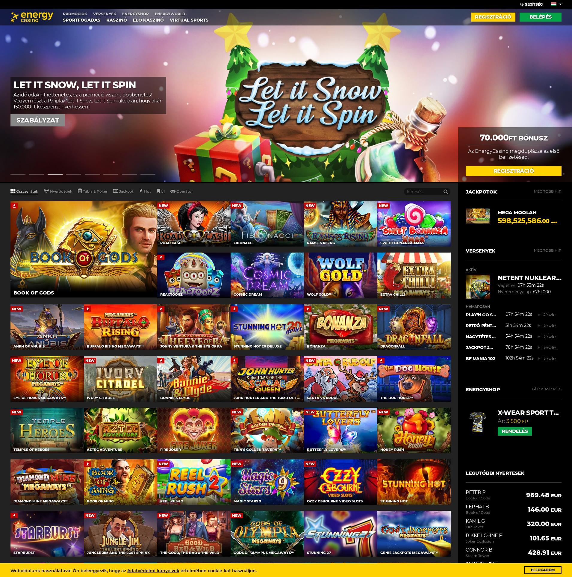 Casino screen Lobby 2019-12-12 pentru Ungaria