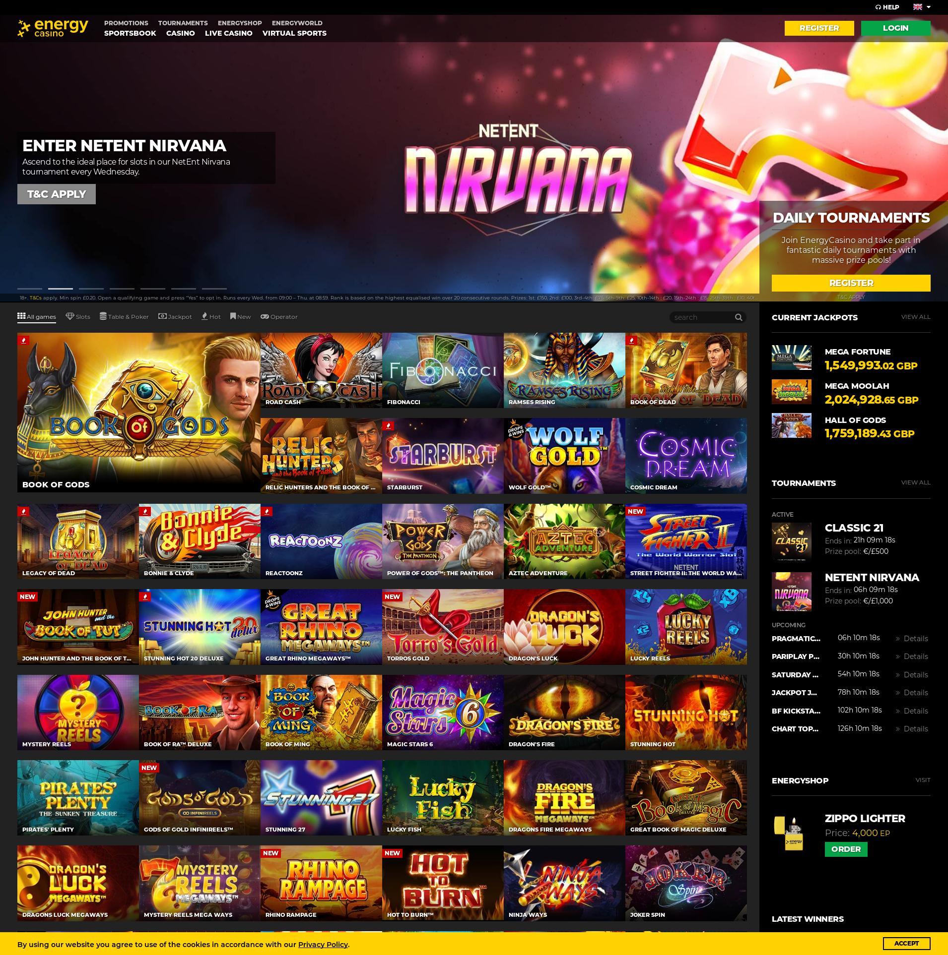 Casino scherm Lobby 2020-05-28 voor Verenigd Koningkrijk