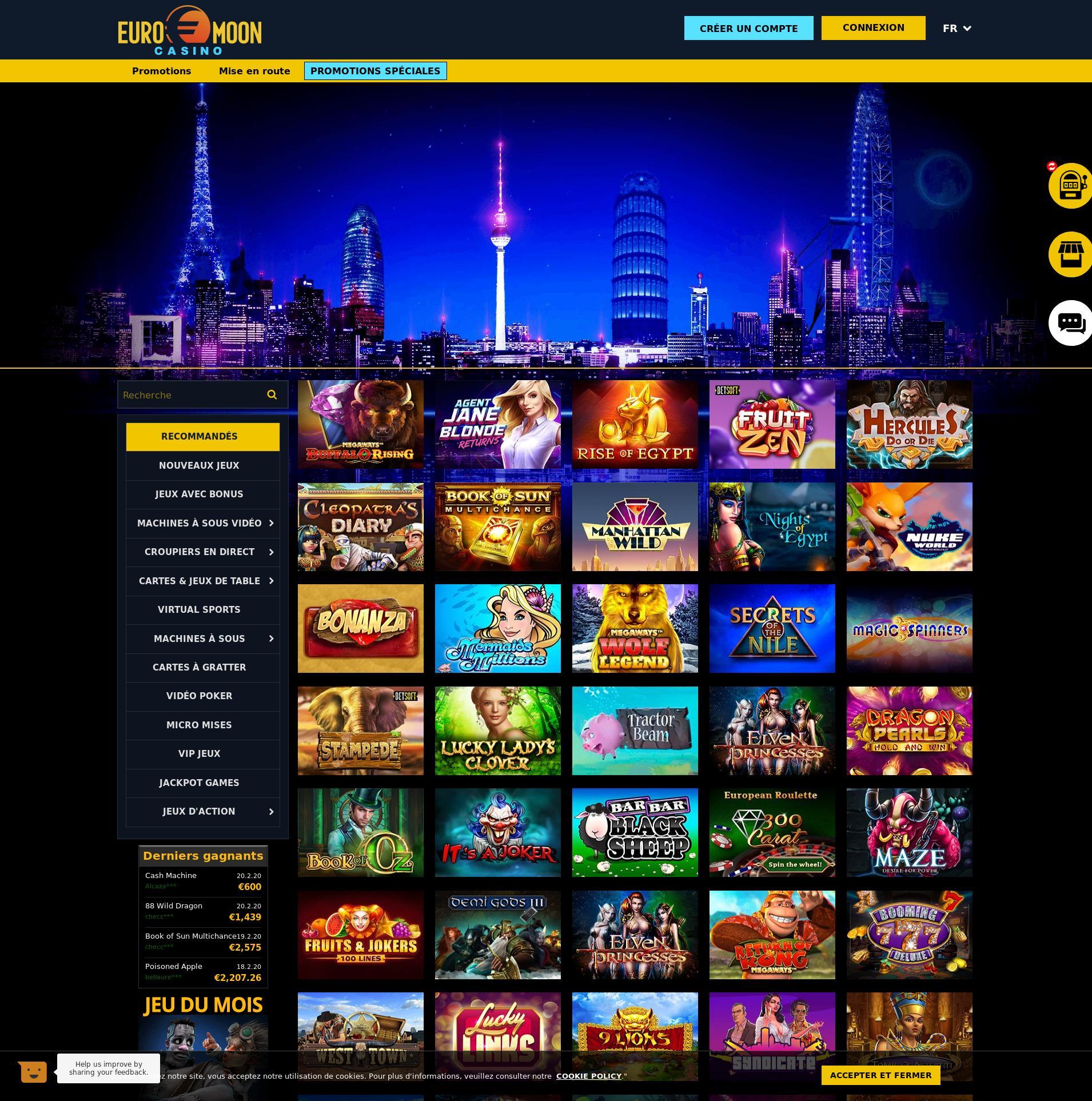 Kaszinó képernyő Lobby 2020-02-22 mert Franciaország