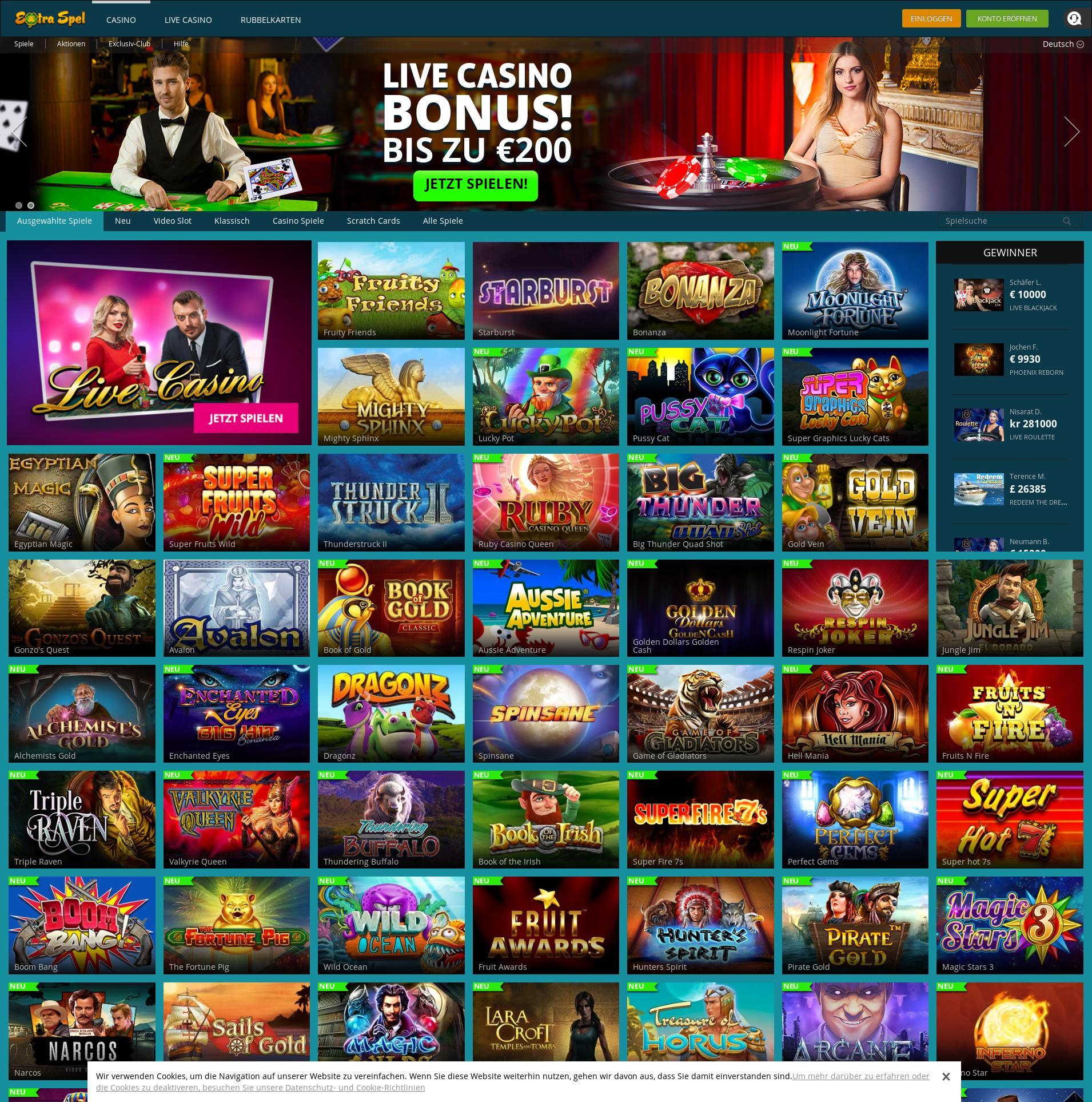 Casino skärm Lobby 2019-06-23 för Sverige
