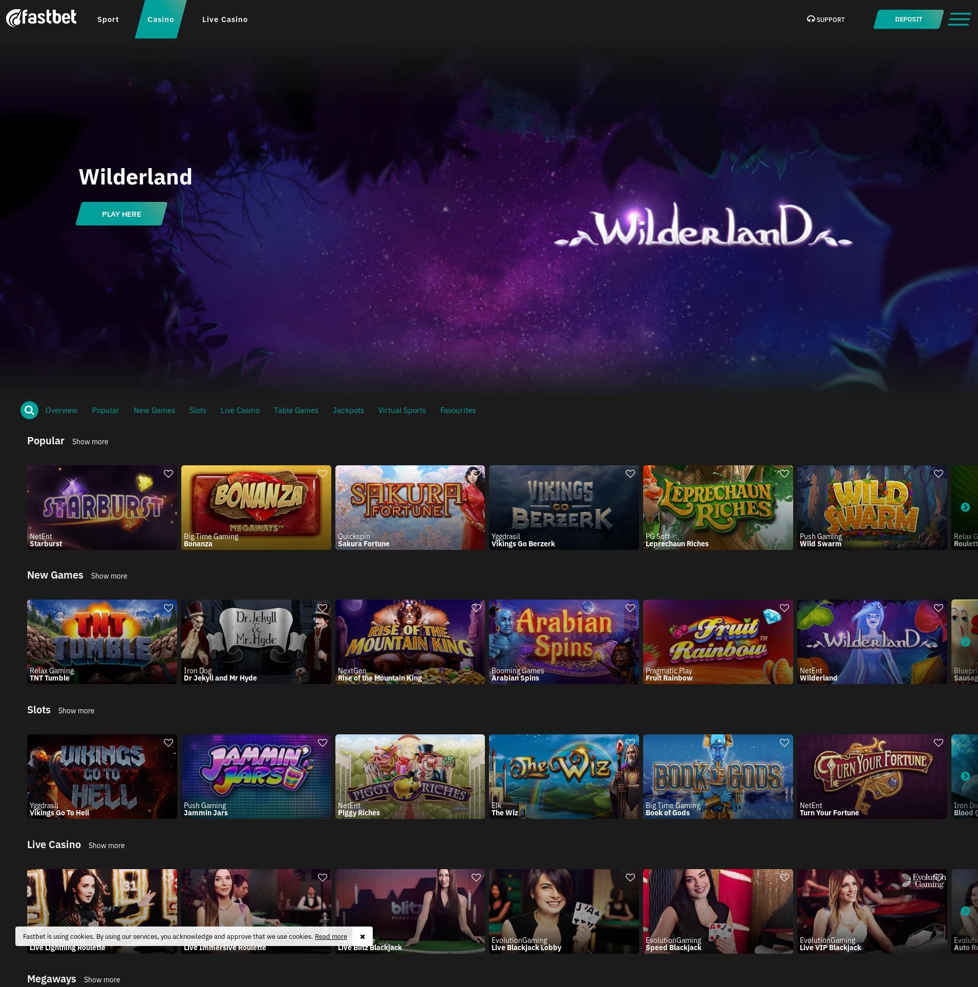 Casino screen Lobby 2020-04-03 for Sweden