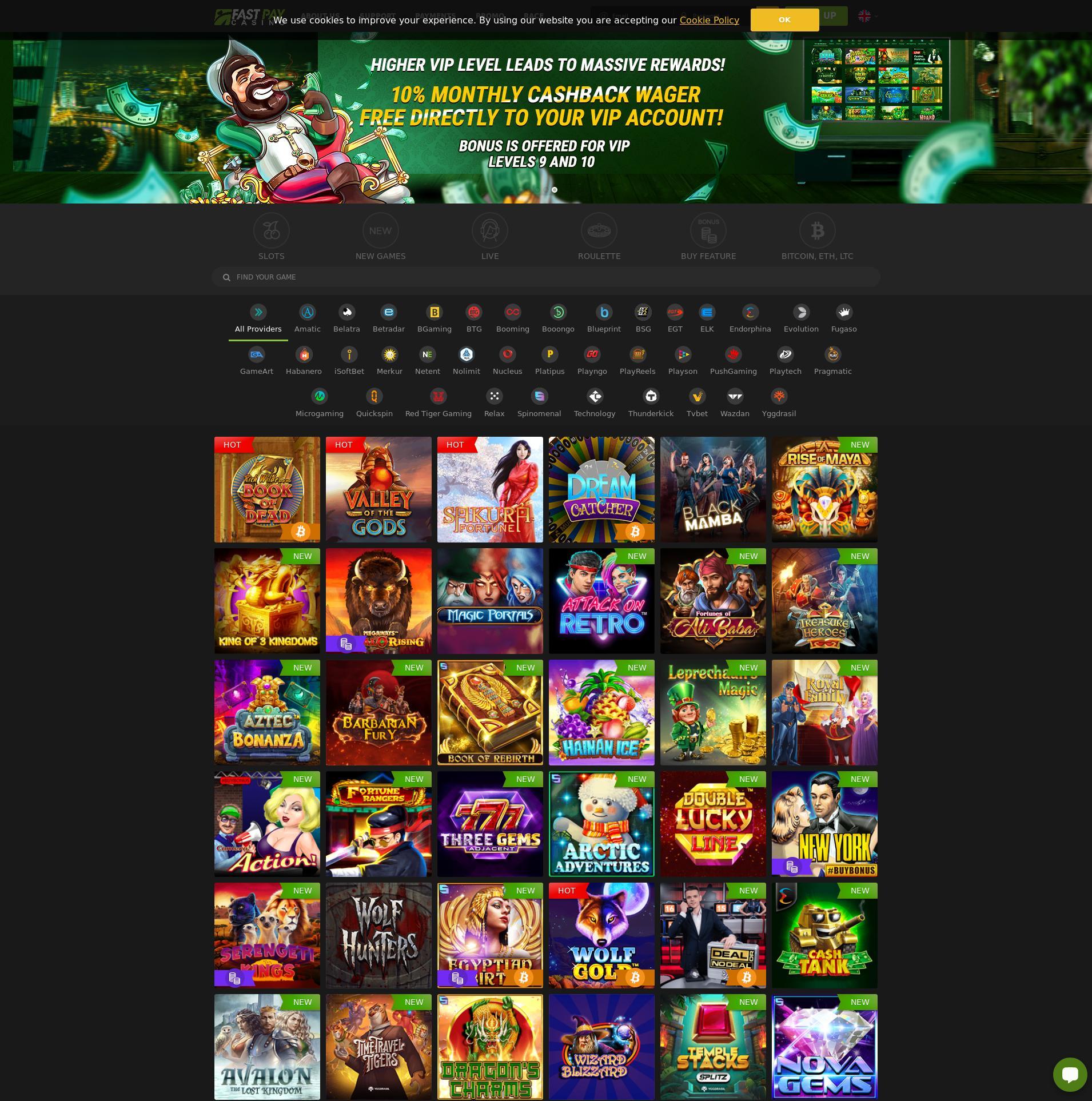 Casino skjerm Lobby 2020-03-29 til Norge