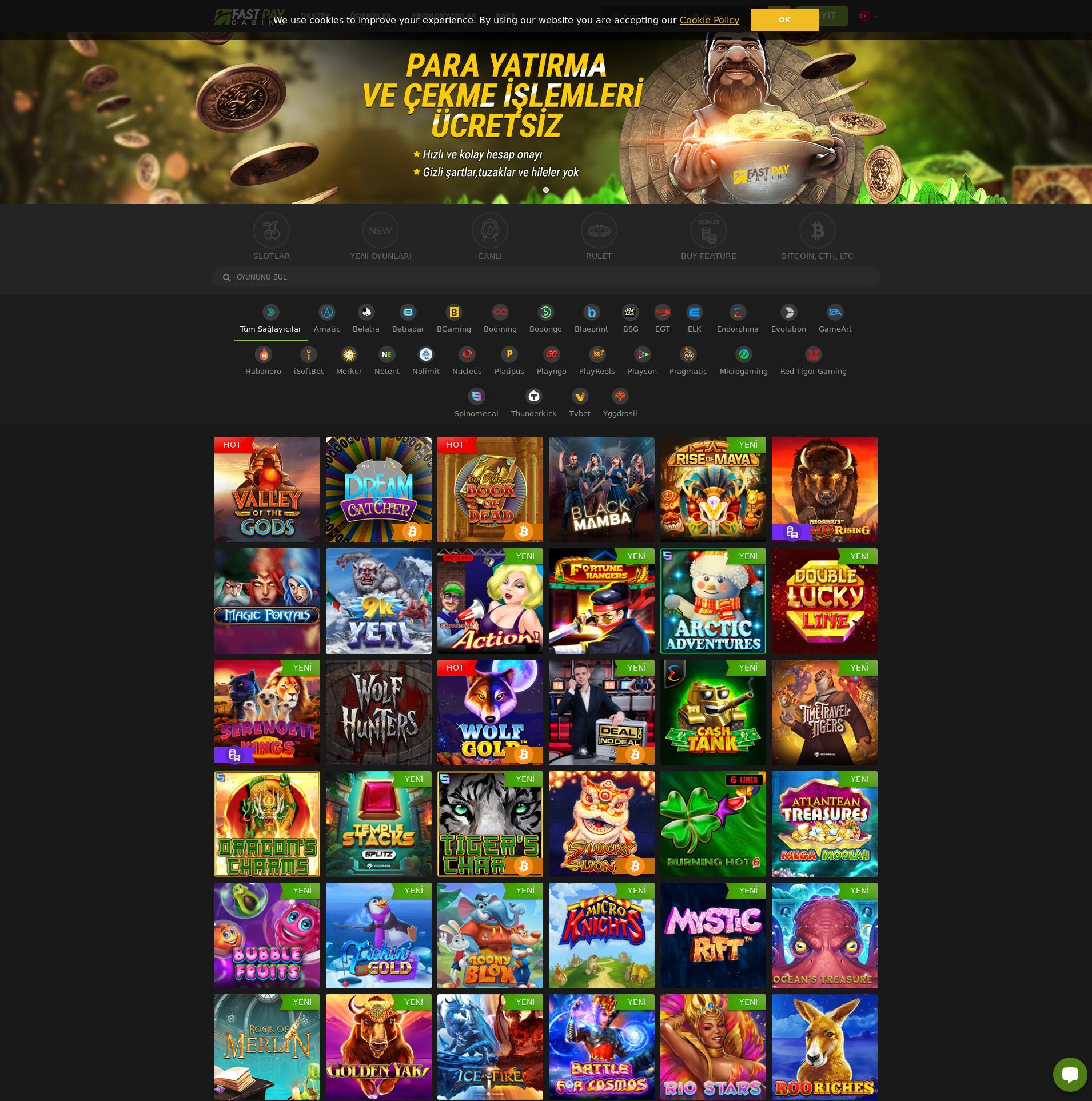Casino ekranı Lobby 2020-03-31 için Türkiye
