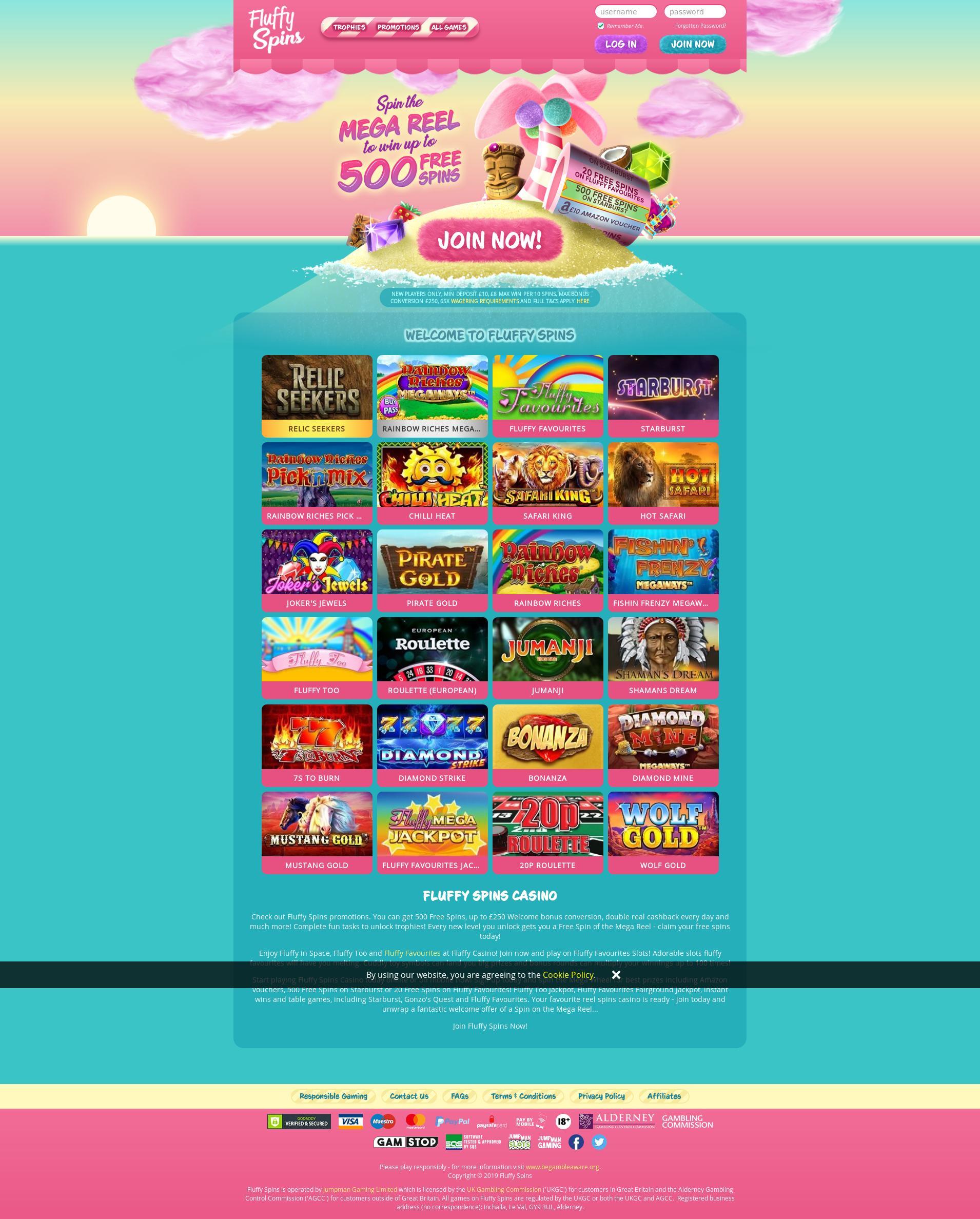 Casino screen Lobby 2019-08-21 for United Kingdom