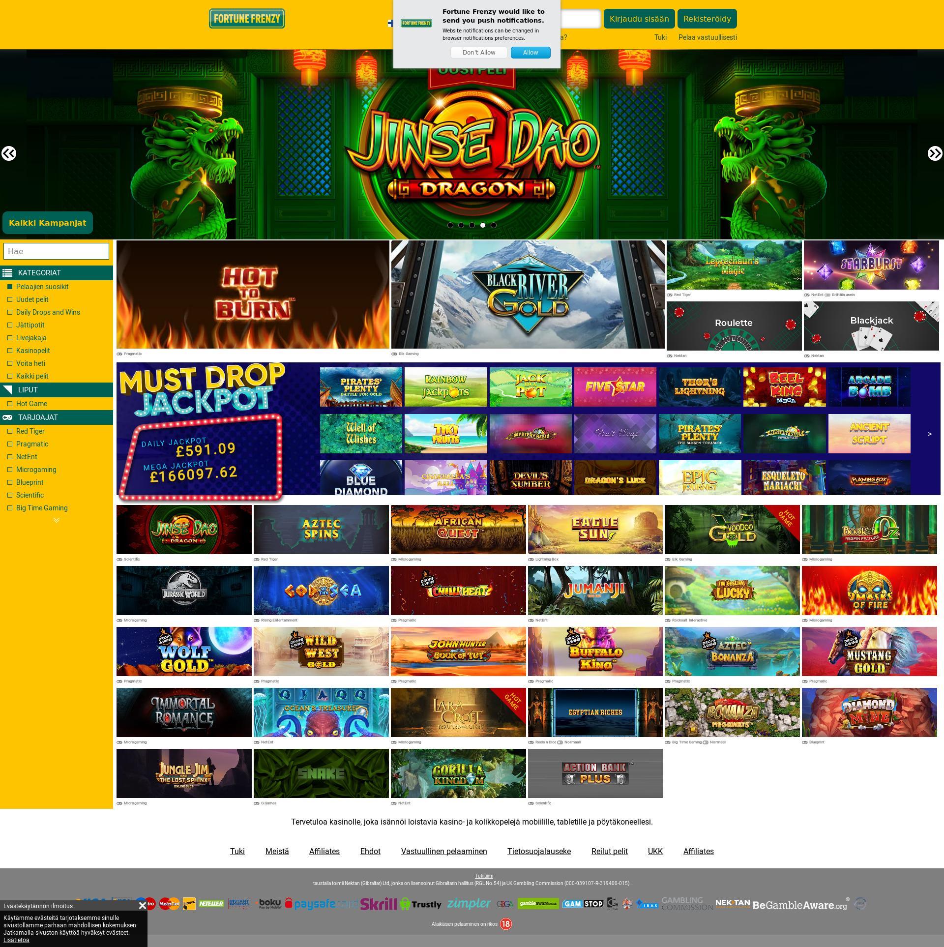 Casino skjerm Lobby 2020-06-01 til Finland