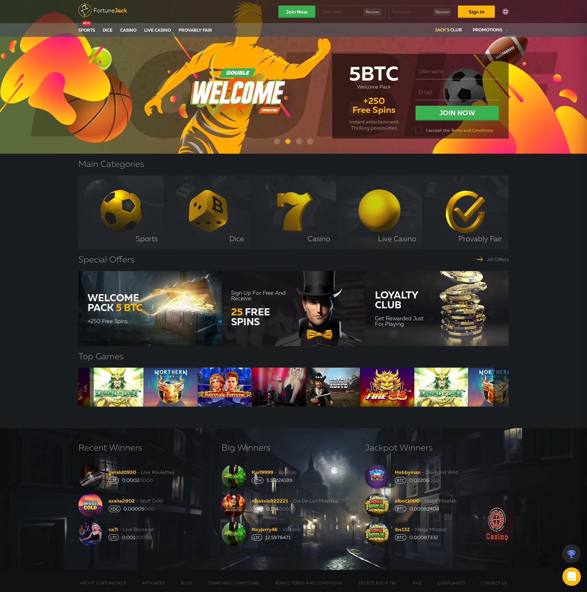 Casino screen Lobby 2019-07-09 for Czech Republic