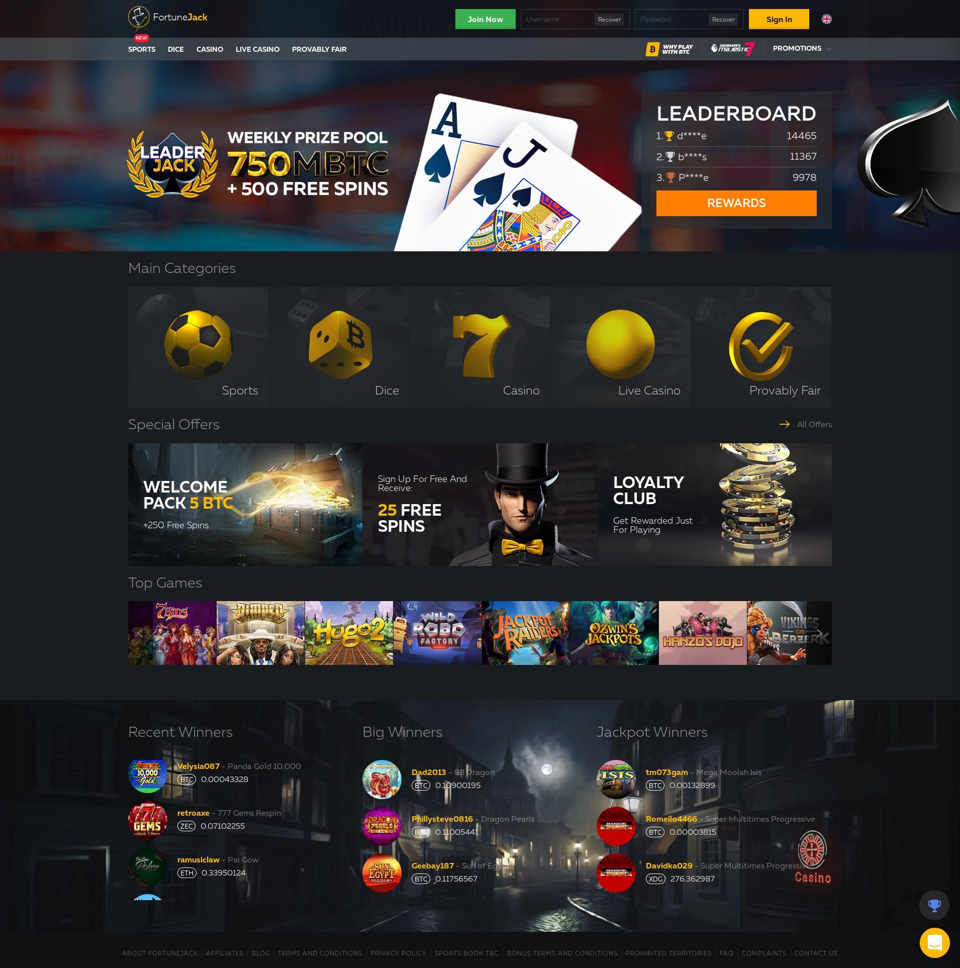 Casino scherm Lobby 2020-01-16 voor Nederland