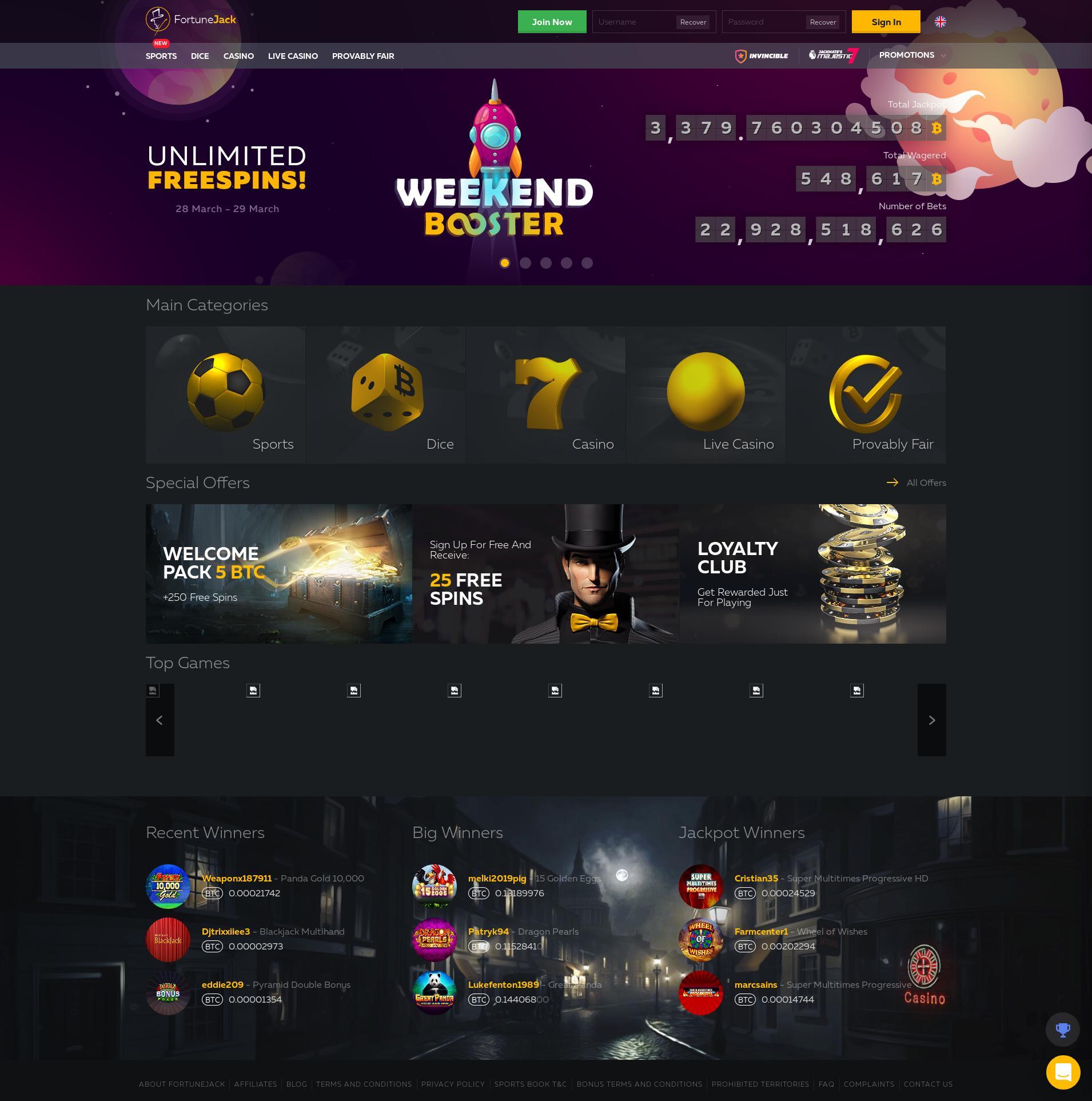 Casino scherm Lobby 2020-03-28 voor Nederland