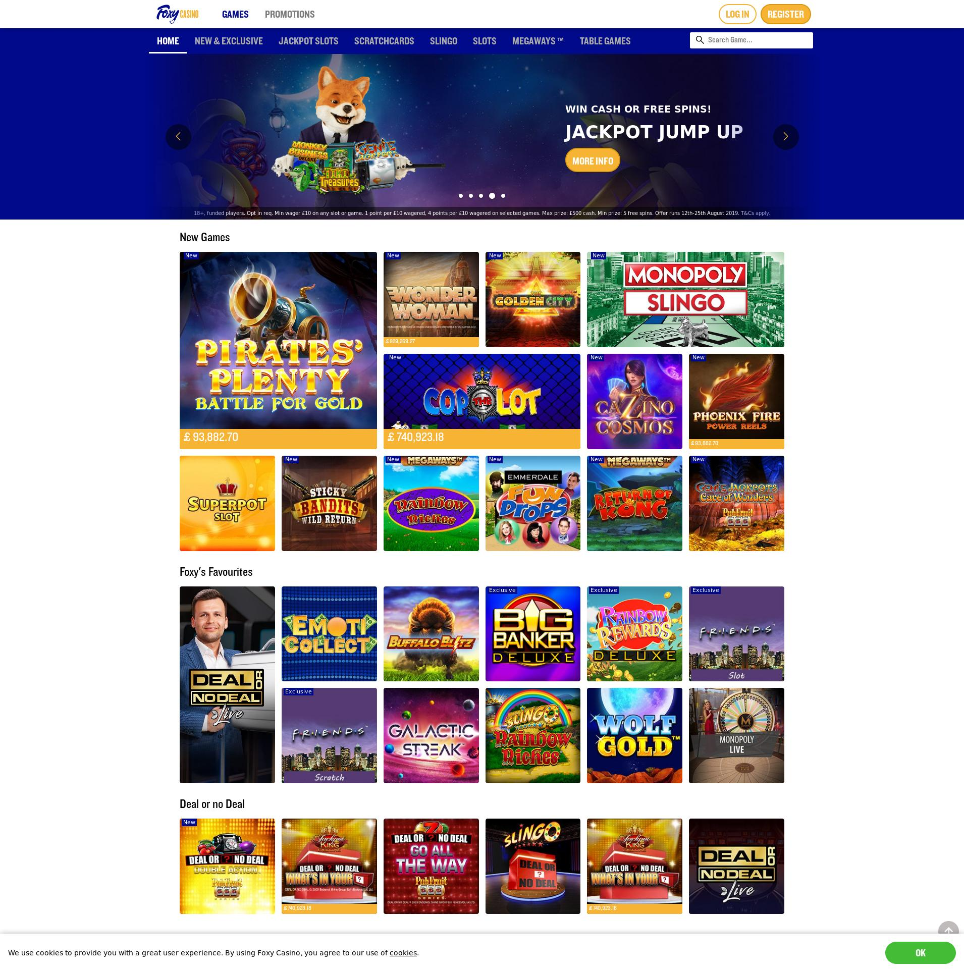 Casino screen Lobby 2019-08-24 for United Kingdom