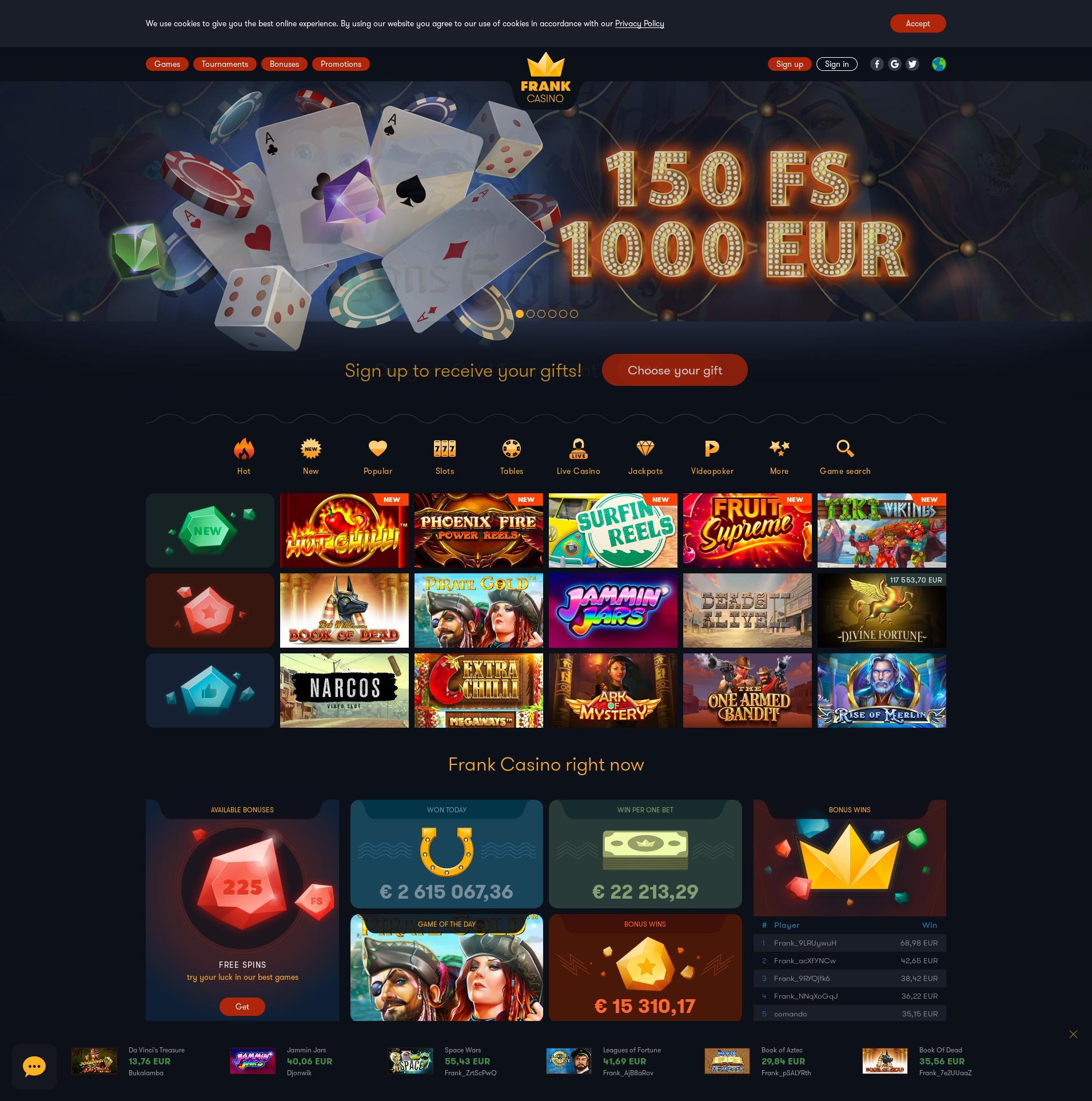 франк казино официальный сайт играть