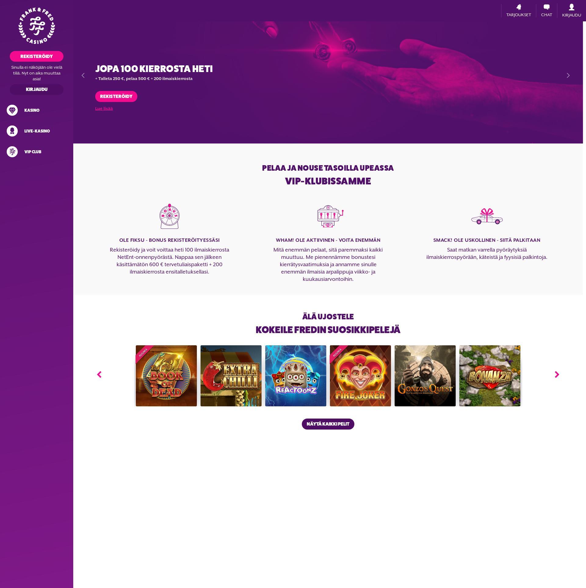Casino skärm Lobby 2019-07-22 för finland