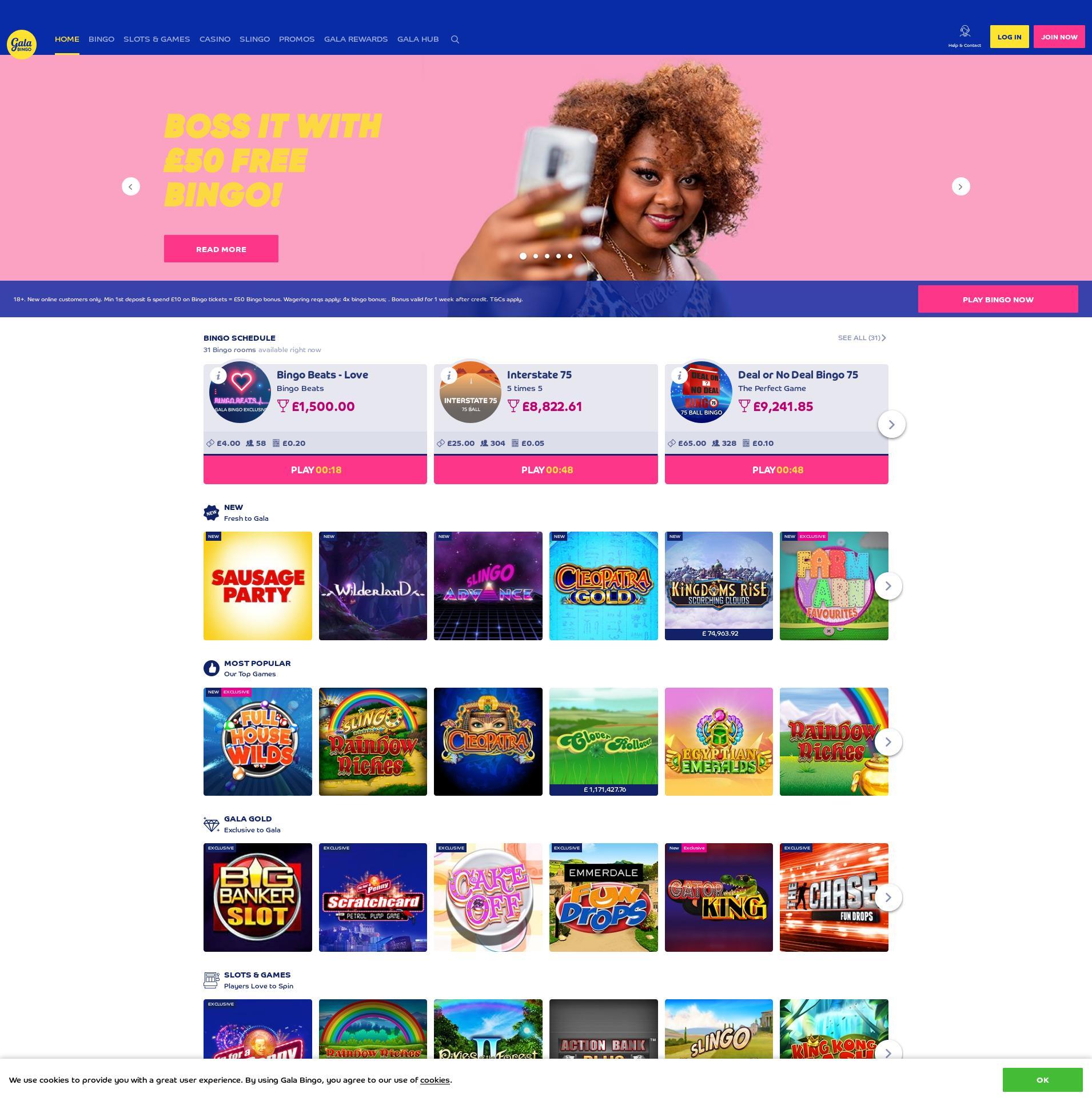 Casino screen Lobby 2020-04-03 for United Kingdom