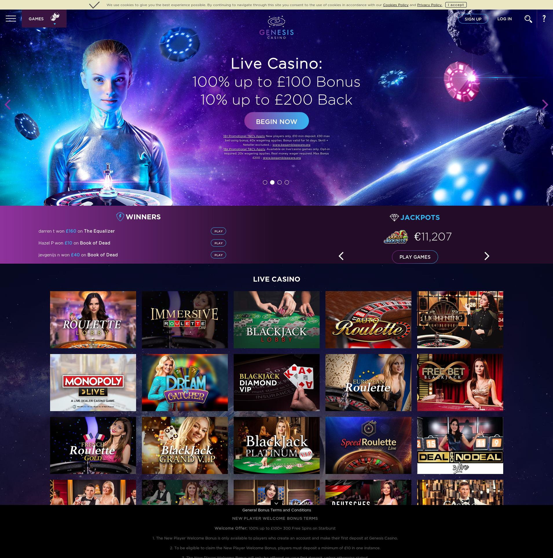 Casino screen Lobby 2020-04-04 for United Kingdom
