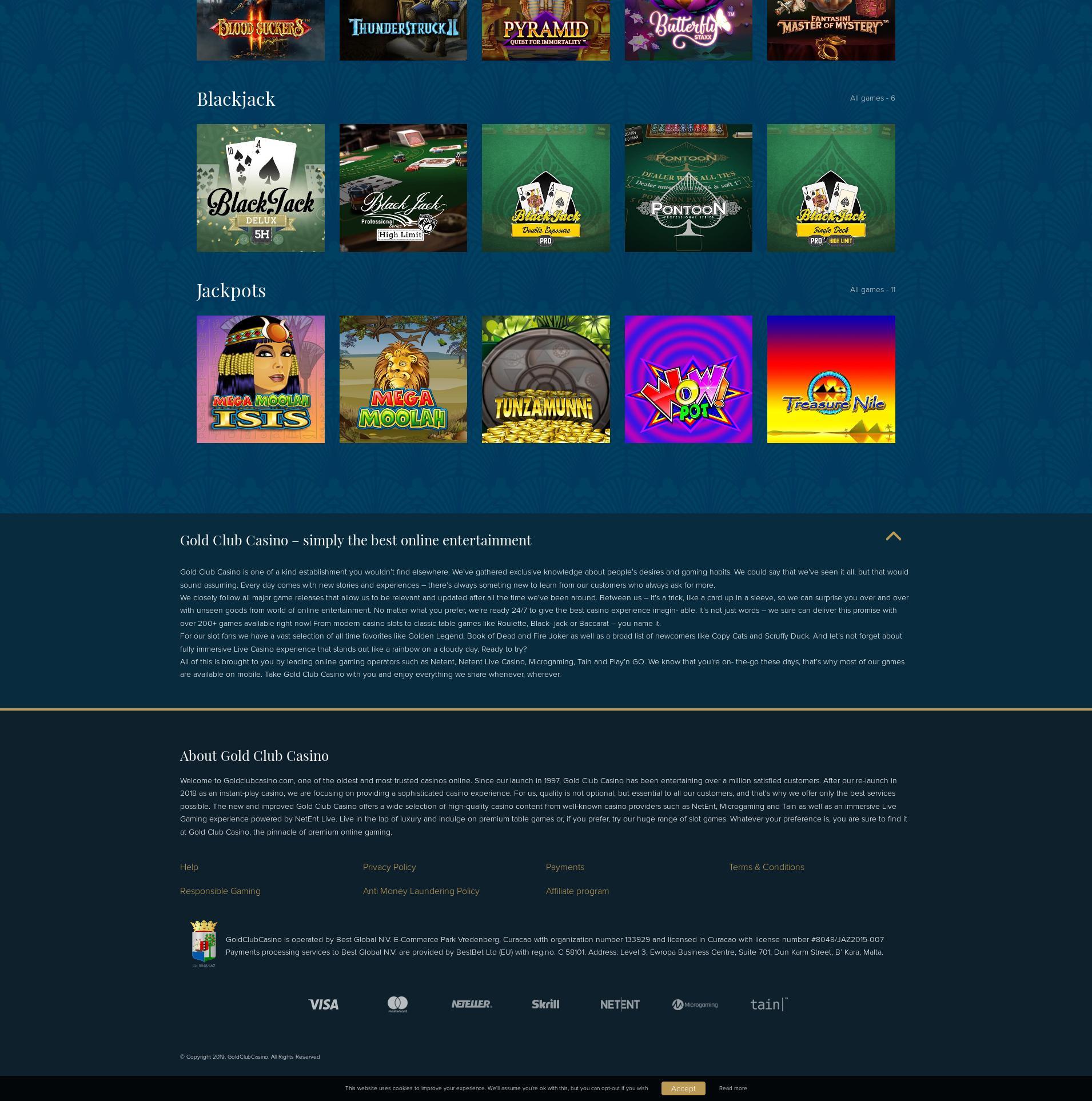 Casino screen Lobby 2020-01-24 for Ukraine