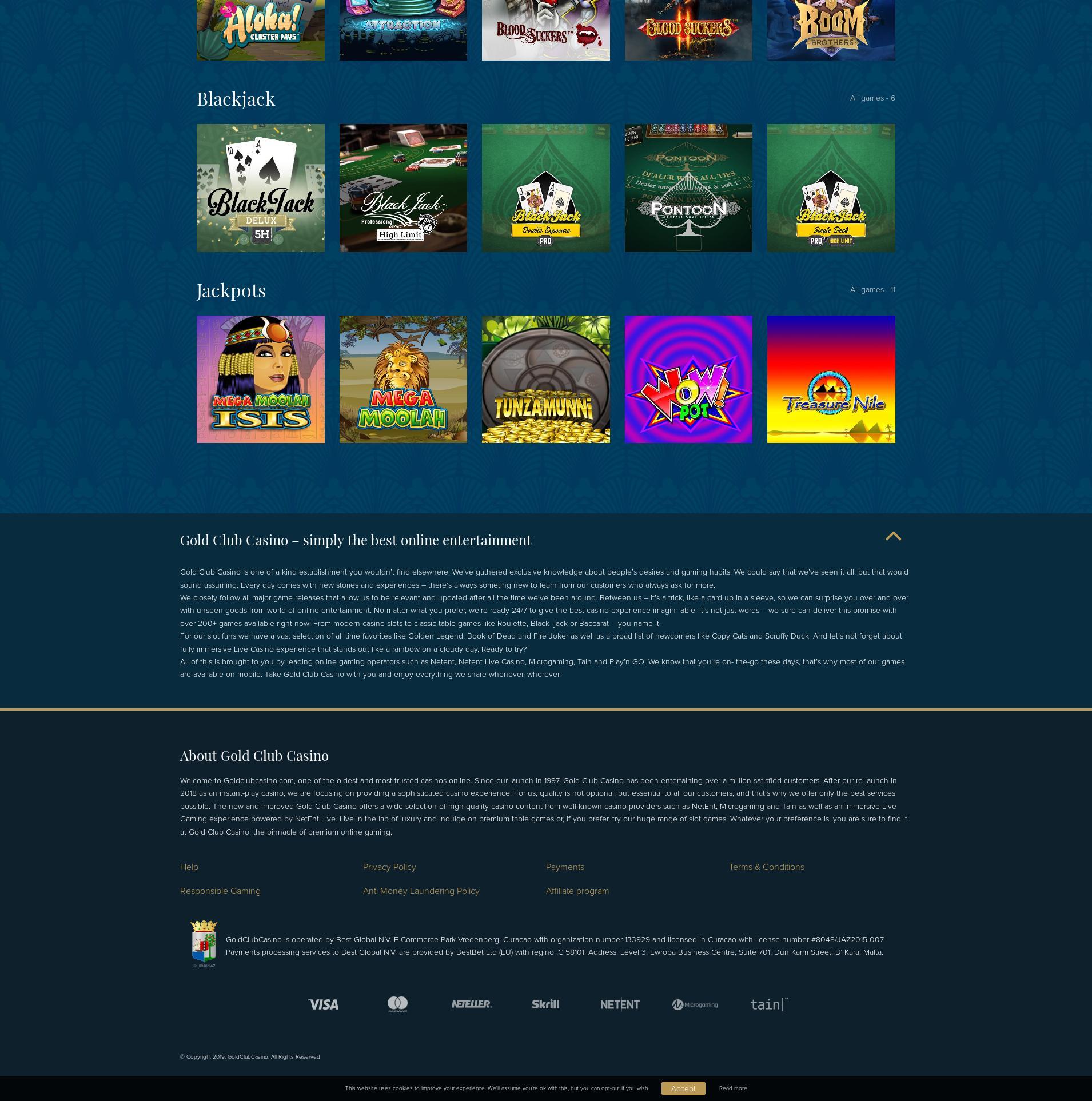 Casino screen Lobby 2019-10-20 for Ukraine