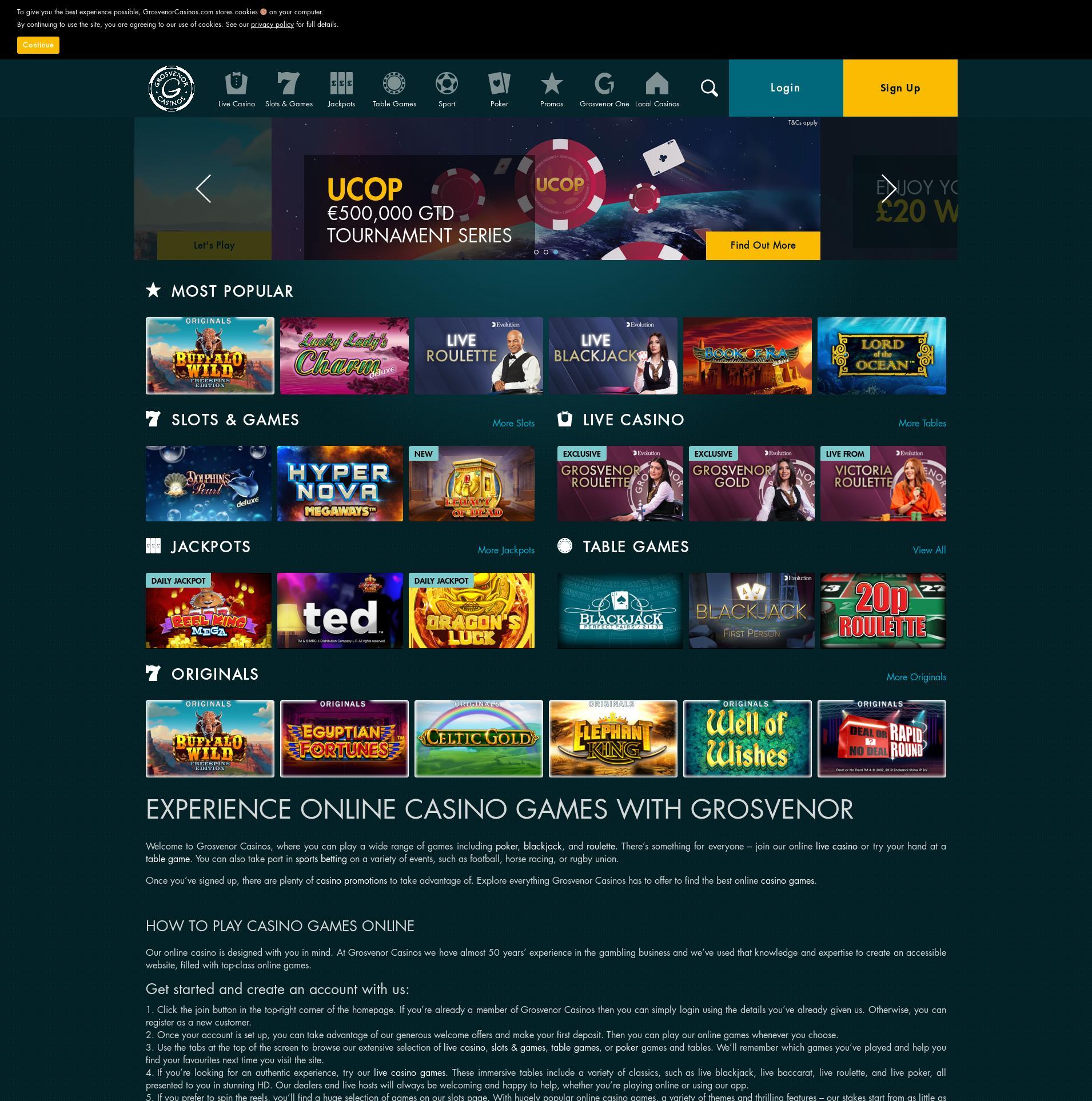 Casino screen Lobby 2020-01-16 for United Kingdom