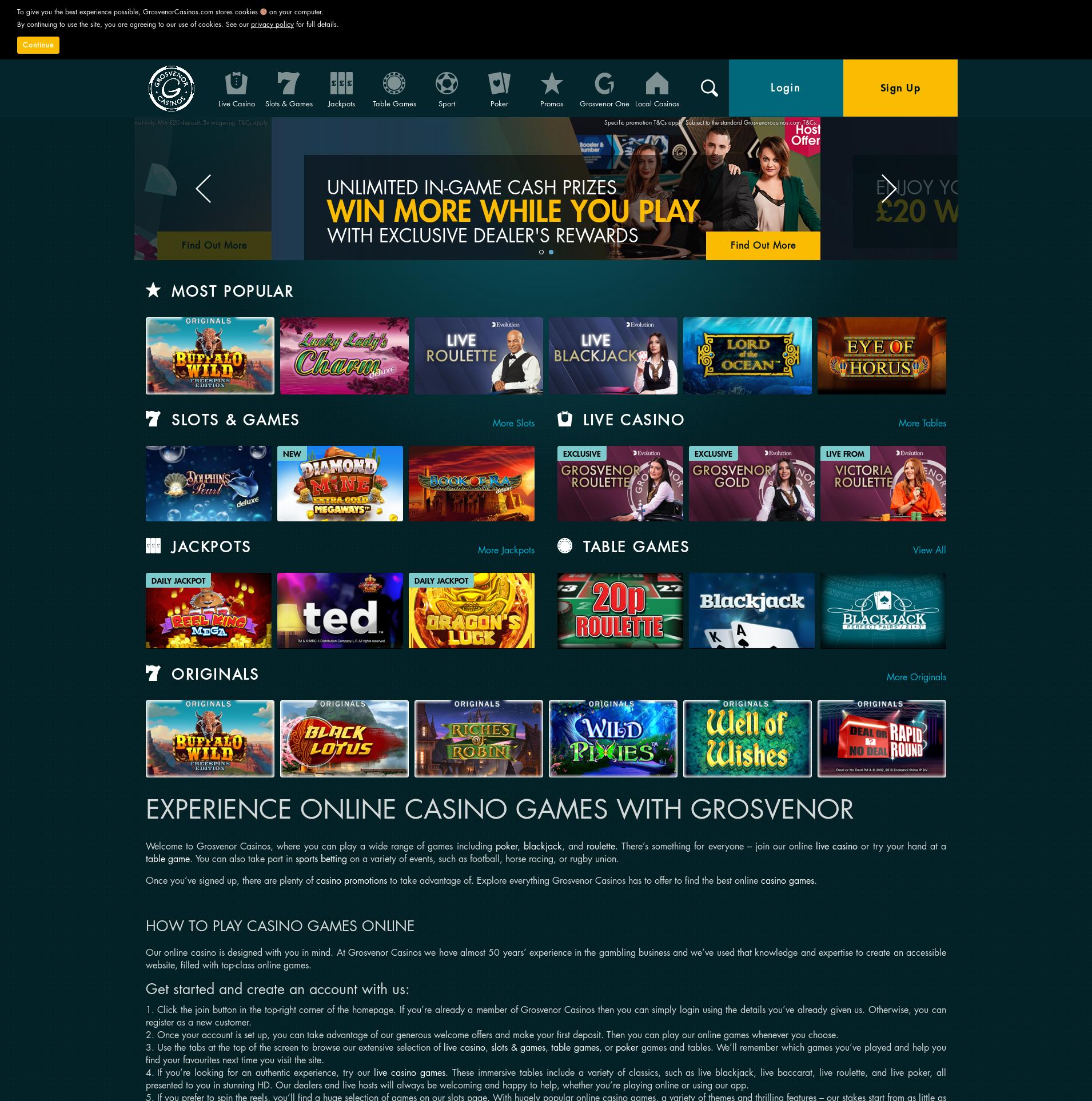 Casino screen Lobby 2020-02-17 for United Kingdom