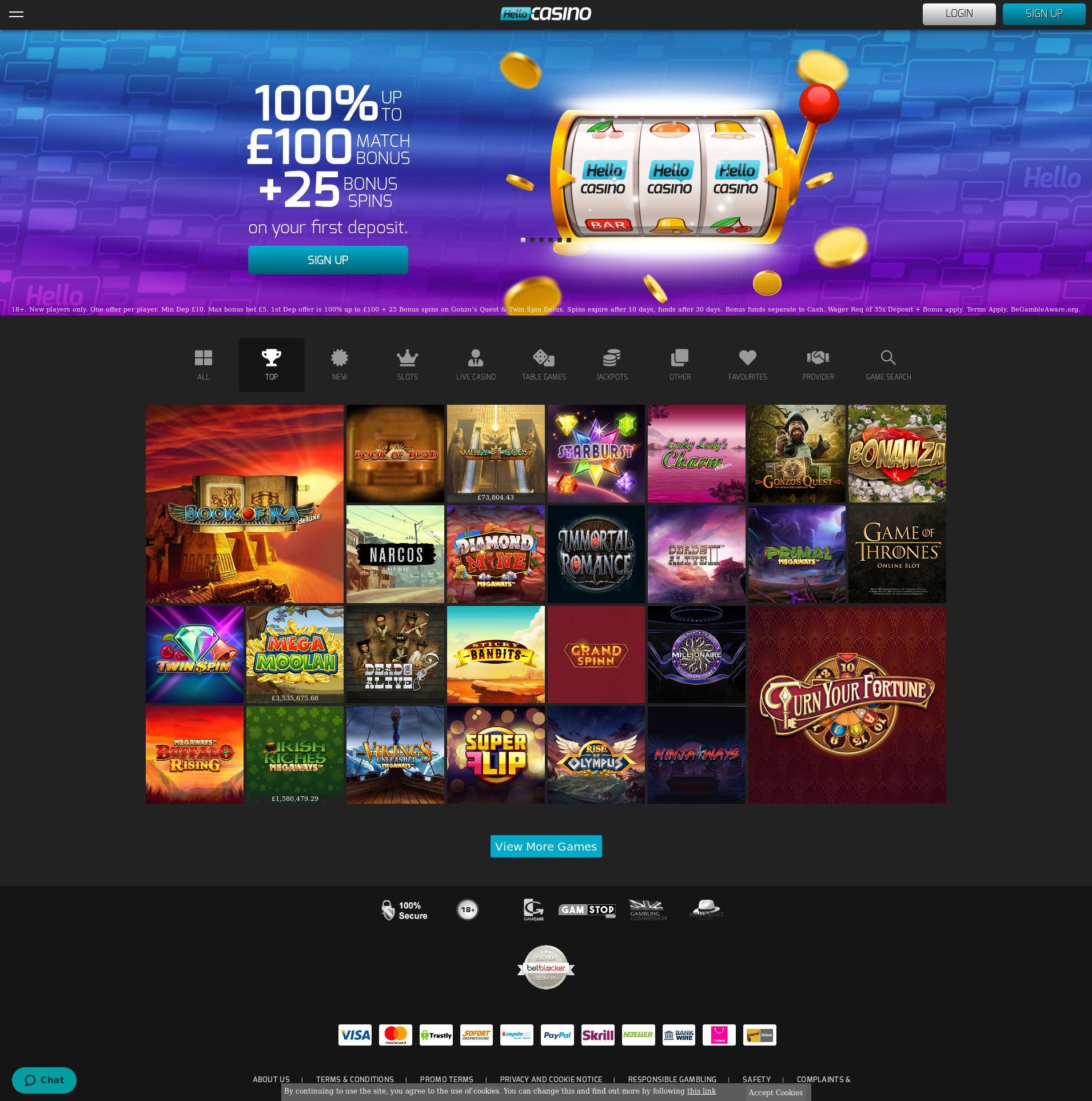 Casino screen Lobby 2020-06-06 for United Kingdom