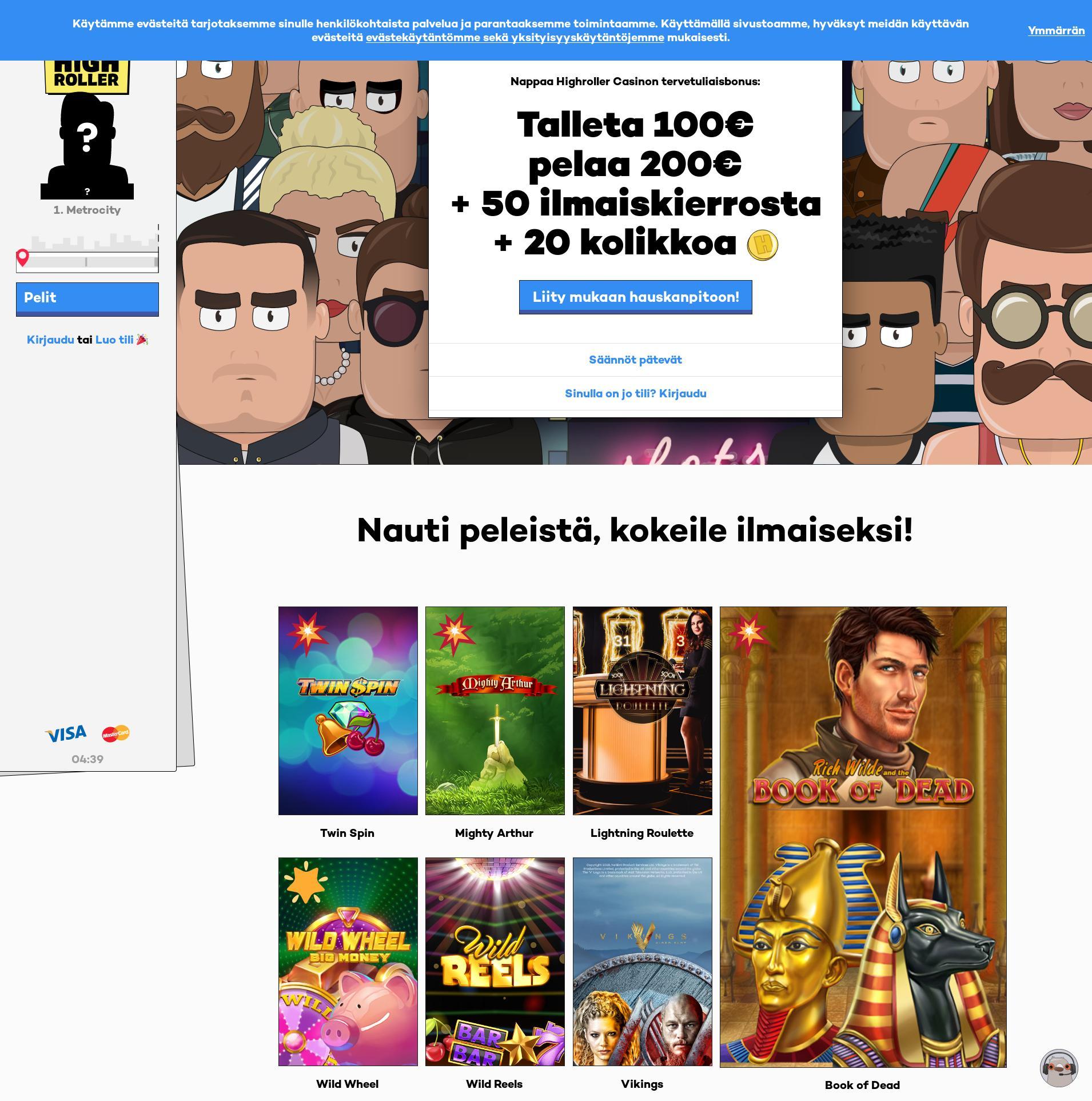 Casino-näyttö Lobby 2019-10-15 varten Suomi