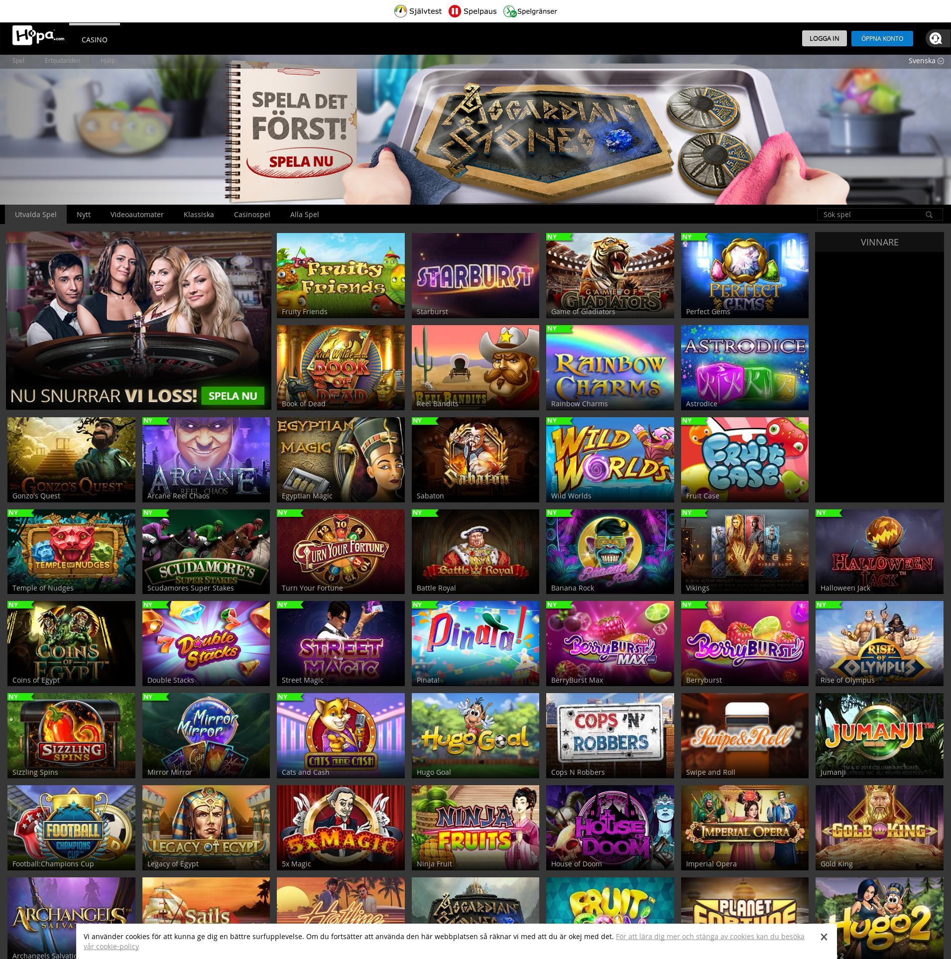 Casino skærm Lobby 2019-06-15 til Danmark