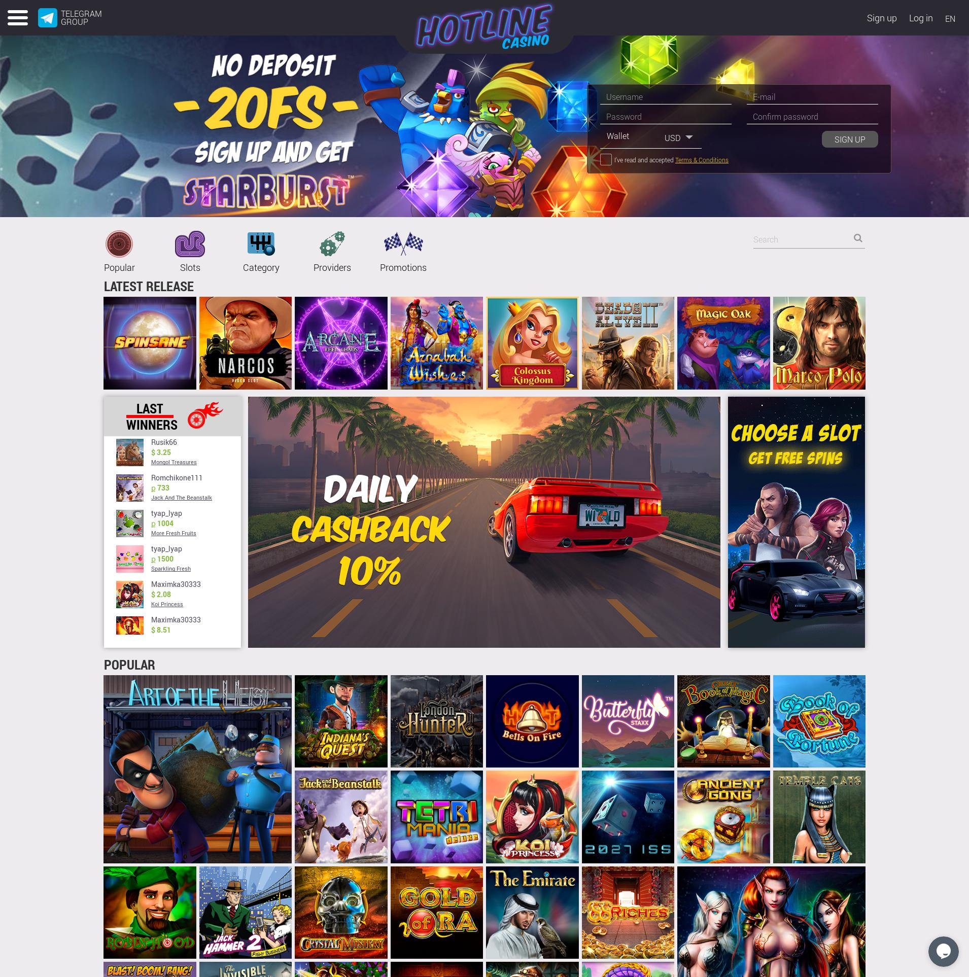 Casino screen Lobby 2019-06-26 for Russian Federation
