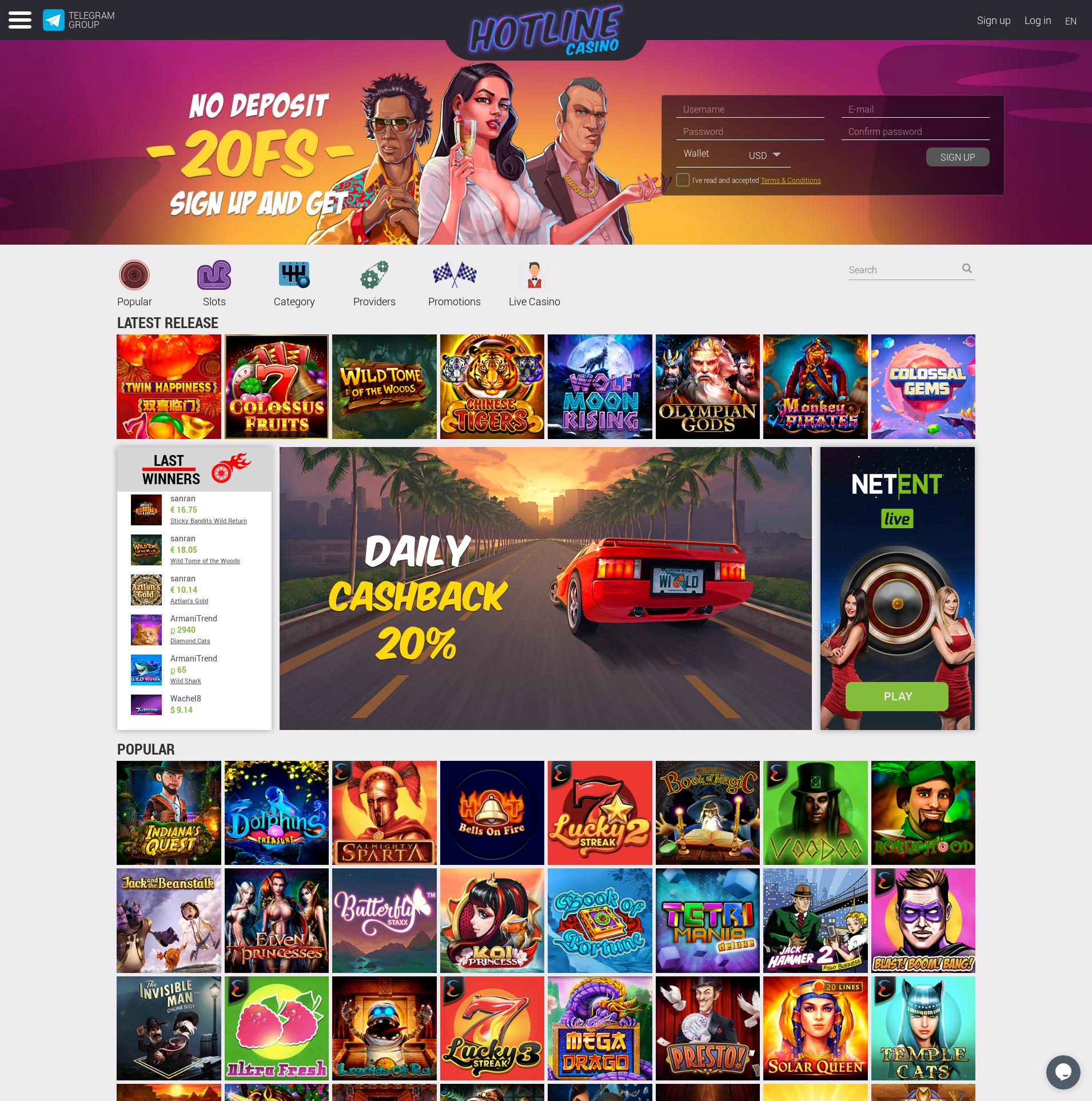 Casino screen Lobby 2019-09-20 for Russian Federation
