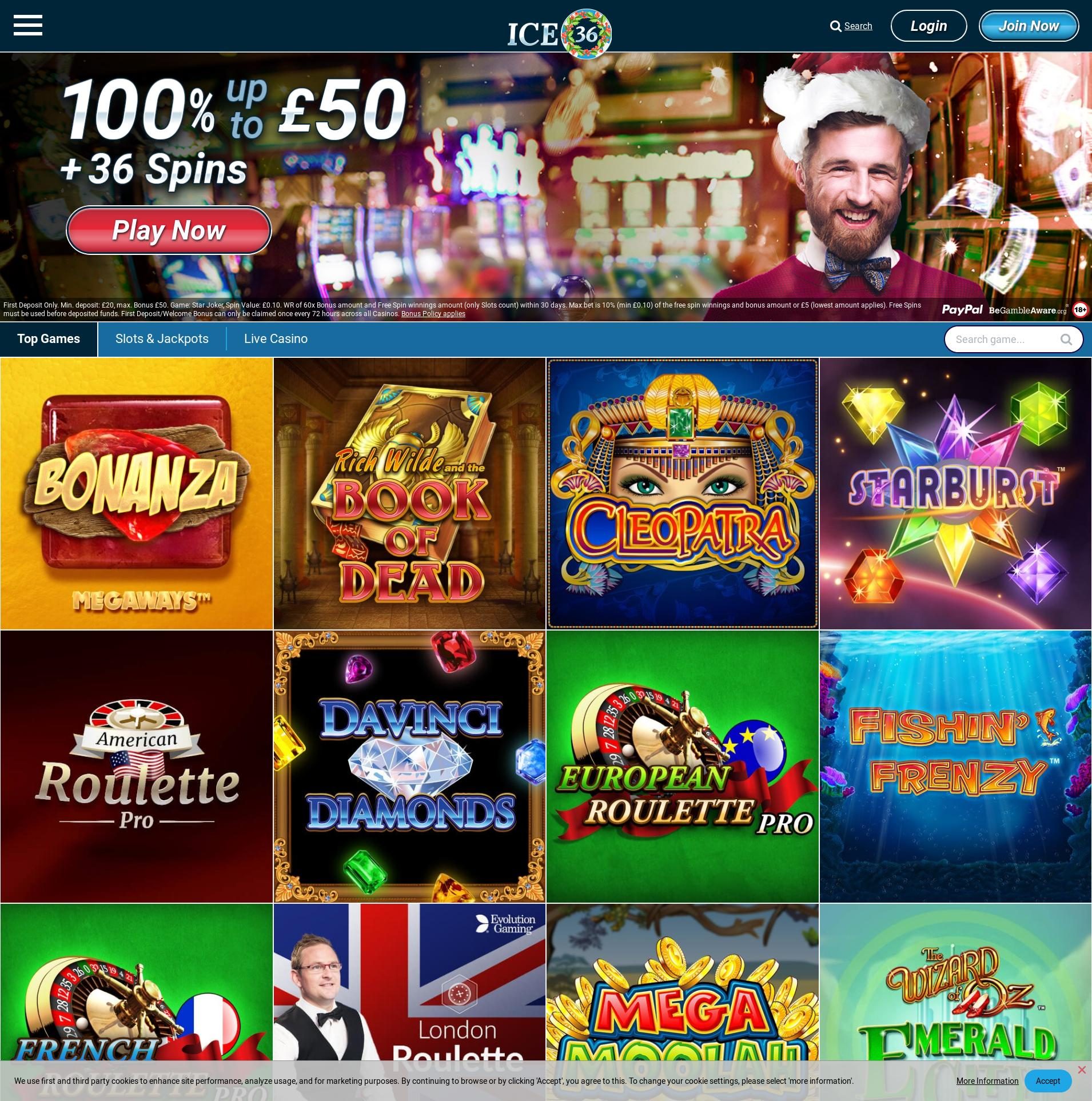 Casino screen Lobby 2019-12-13 for United Kingdom