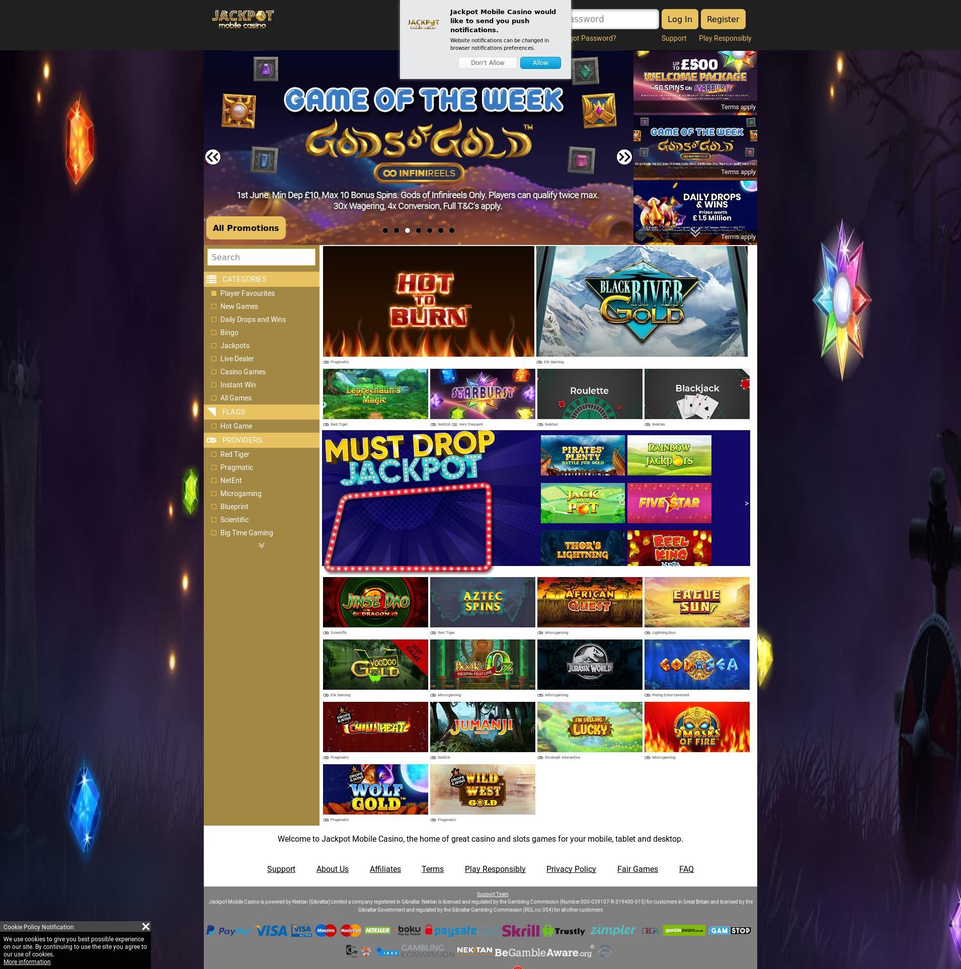 Écran de casino Lobby 2020-06-01 pour Royaume-Uni