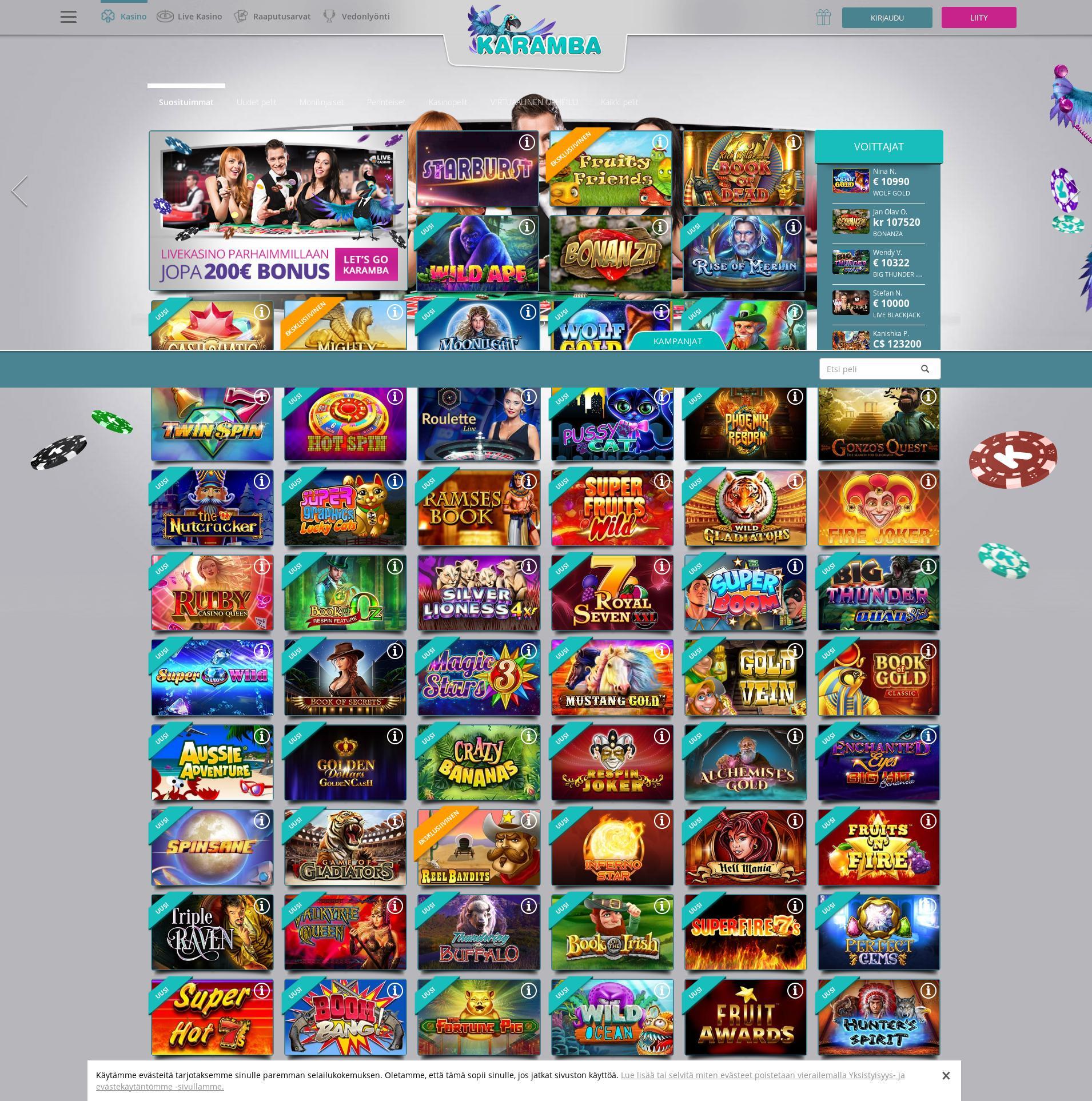 Casino-näyttö Lobby 2019-06-26 varten Suomi