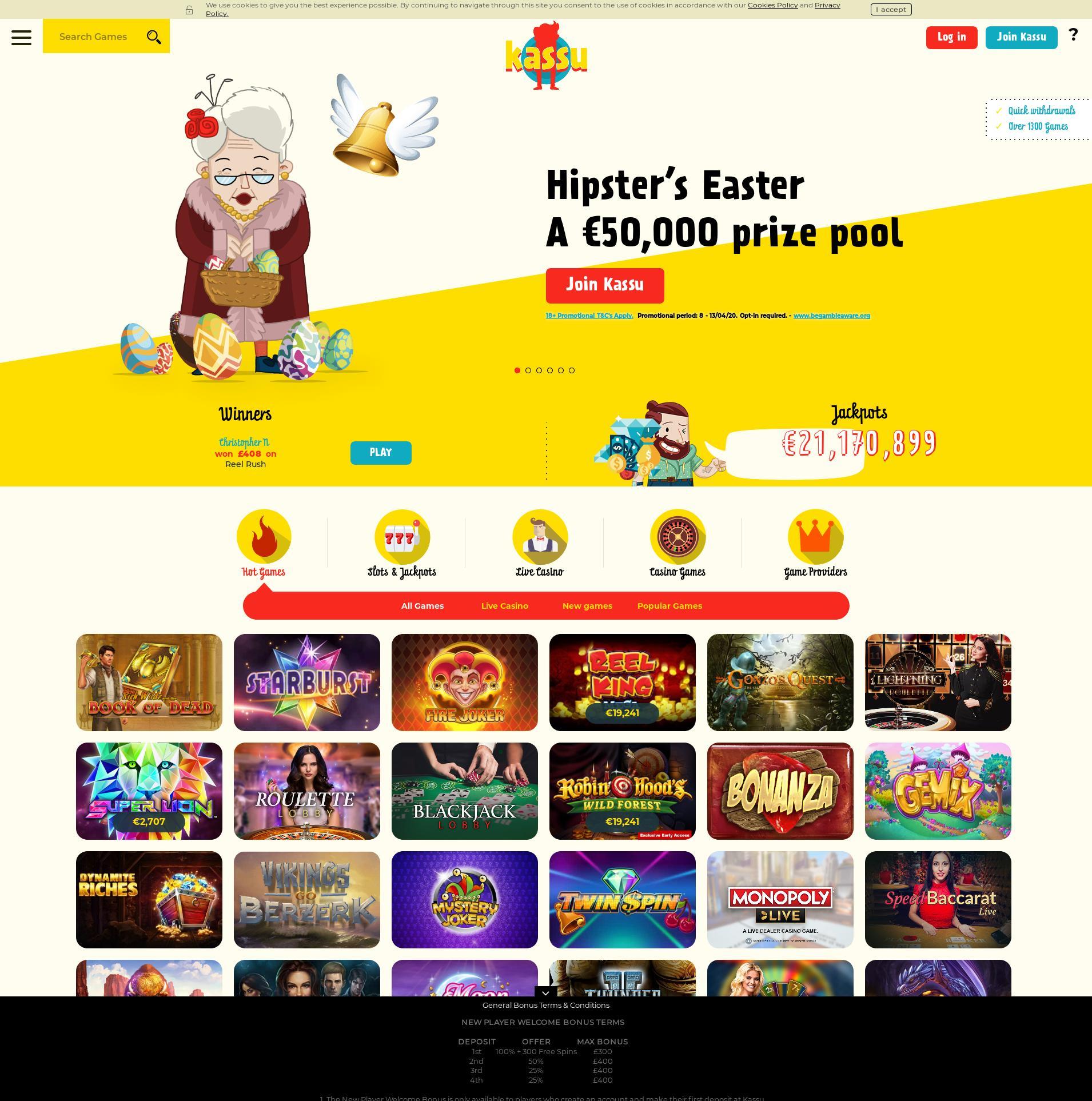 Casino screen Lobby 2020-04-09 for United Kingdom