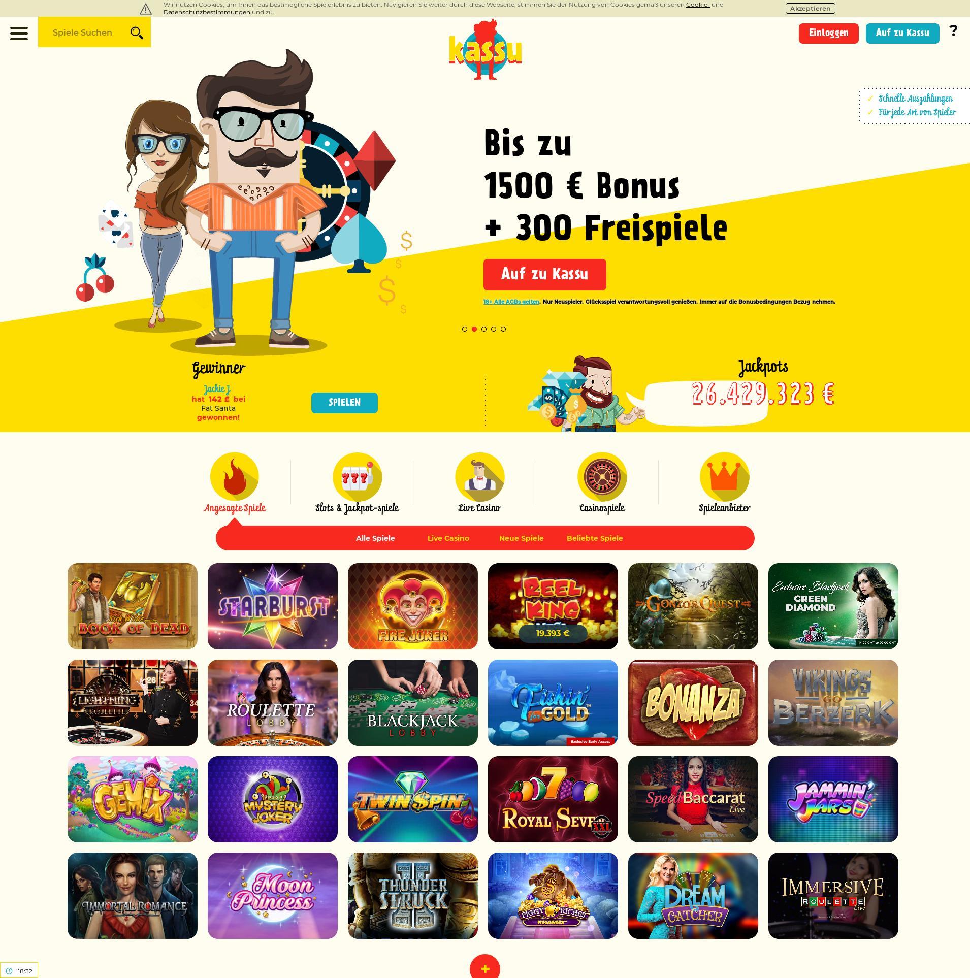 Casino Bildschirm Lobby 2020-02-24 zum Deutschland