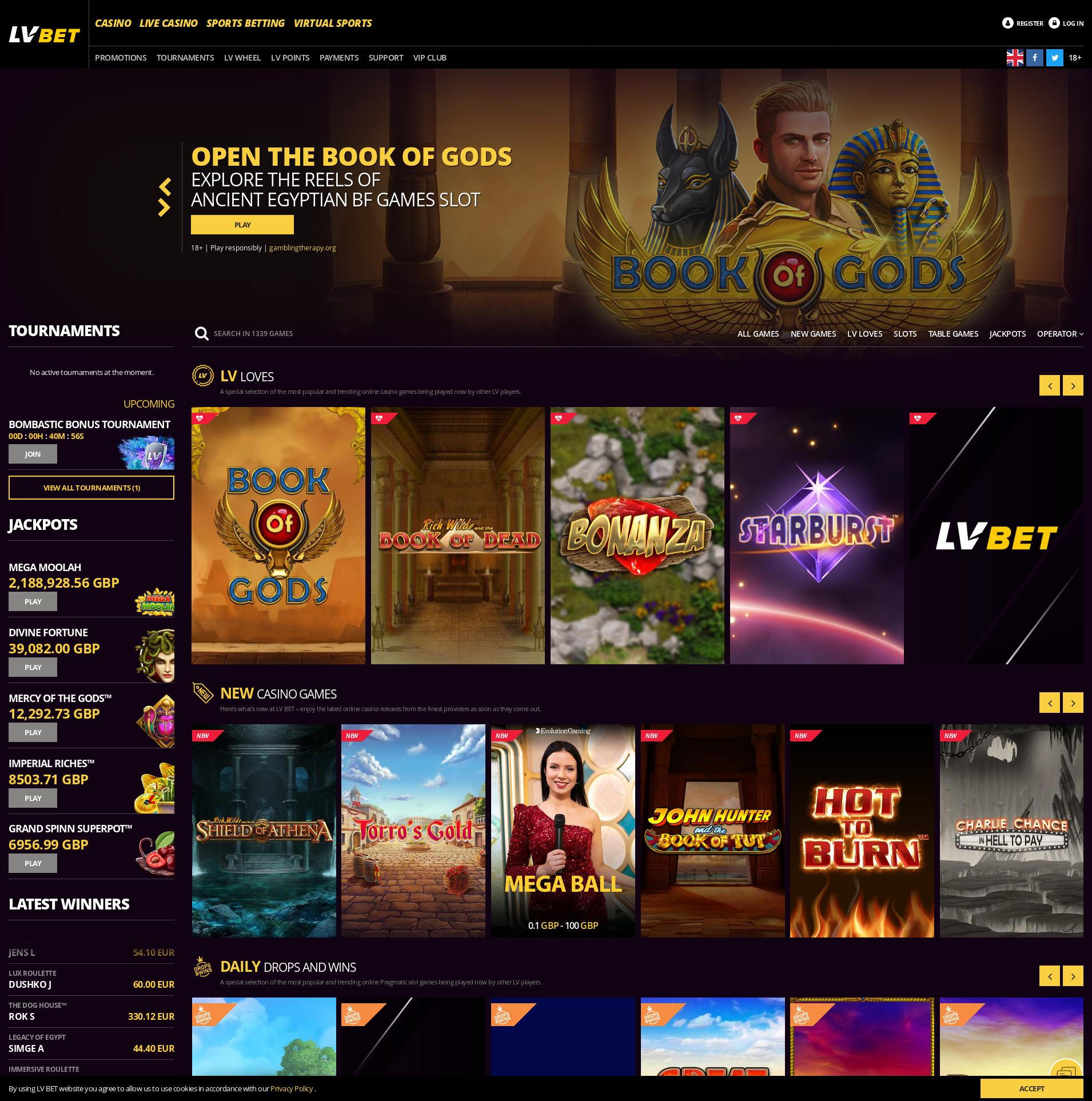 Casino screen Lobby 2020-05-29 for United Kingdom