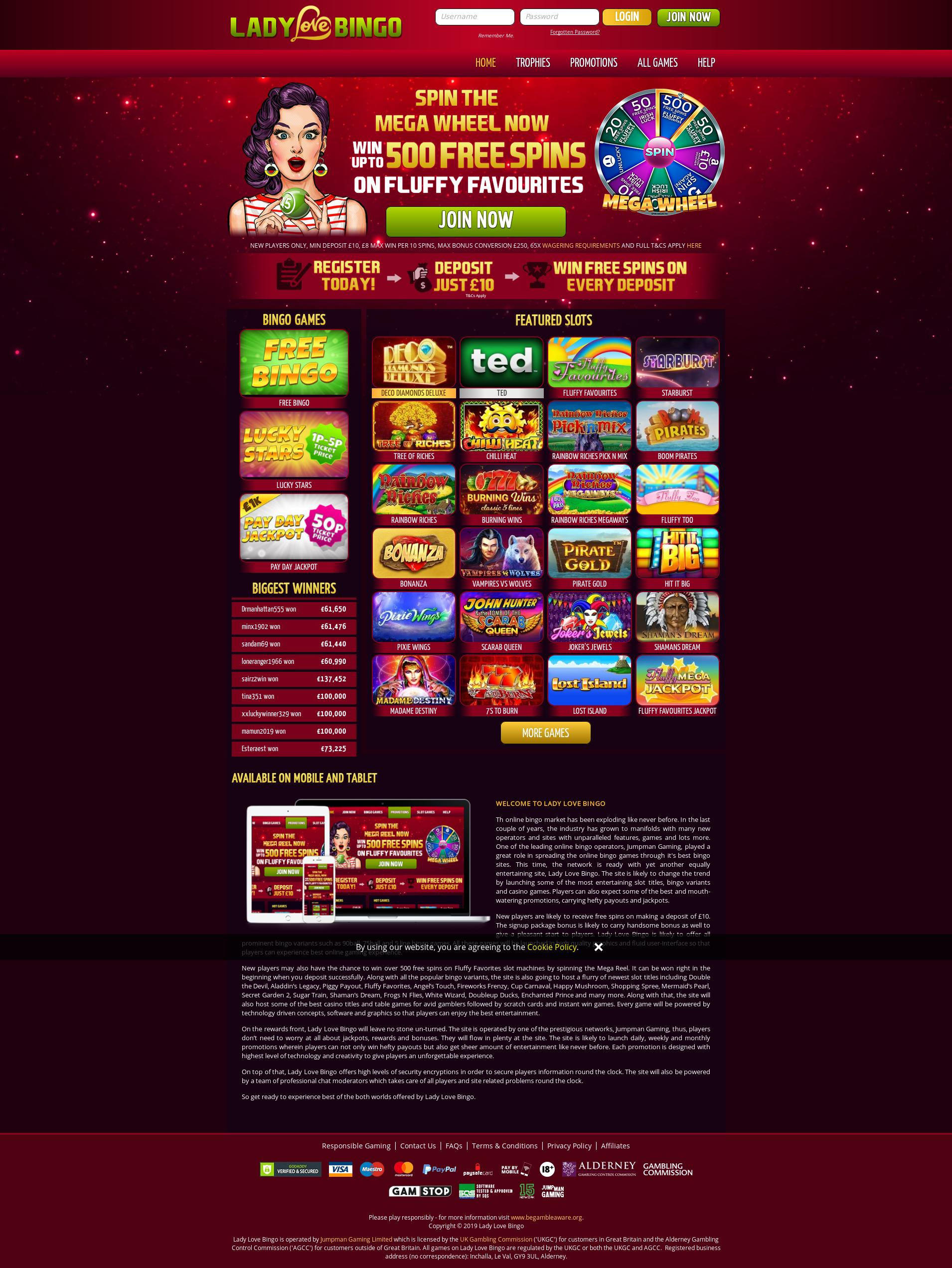Casino screen Lobby 2019-10-18 for United Kingdom
