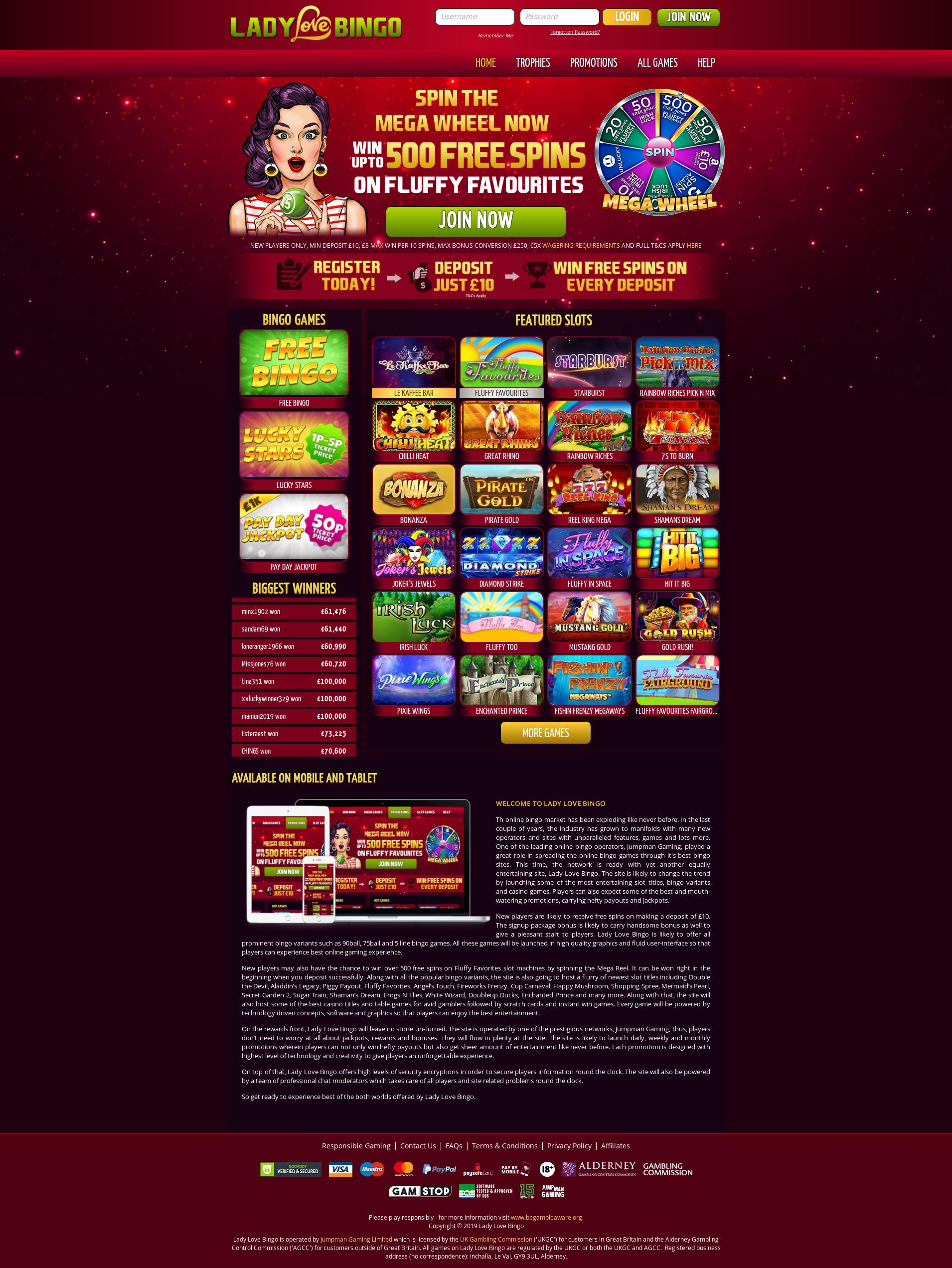 Casino screen Lobby 2019-06-18 for United Kingdom