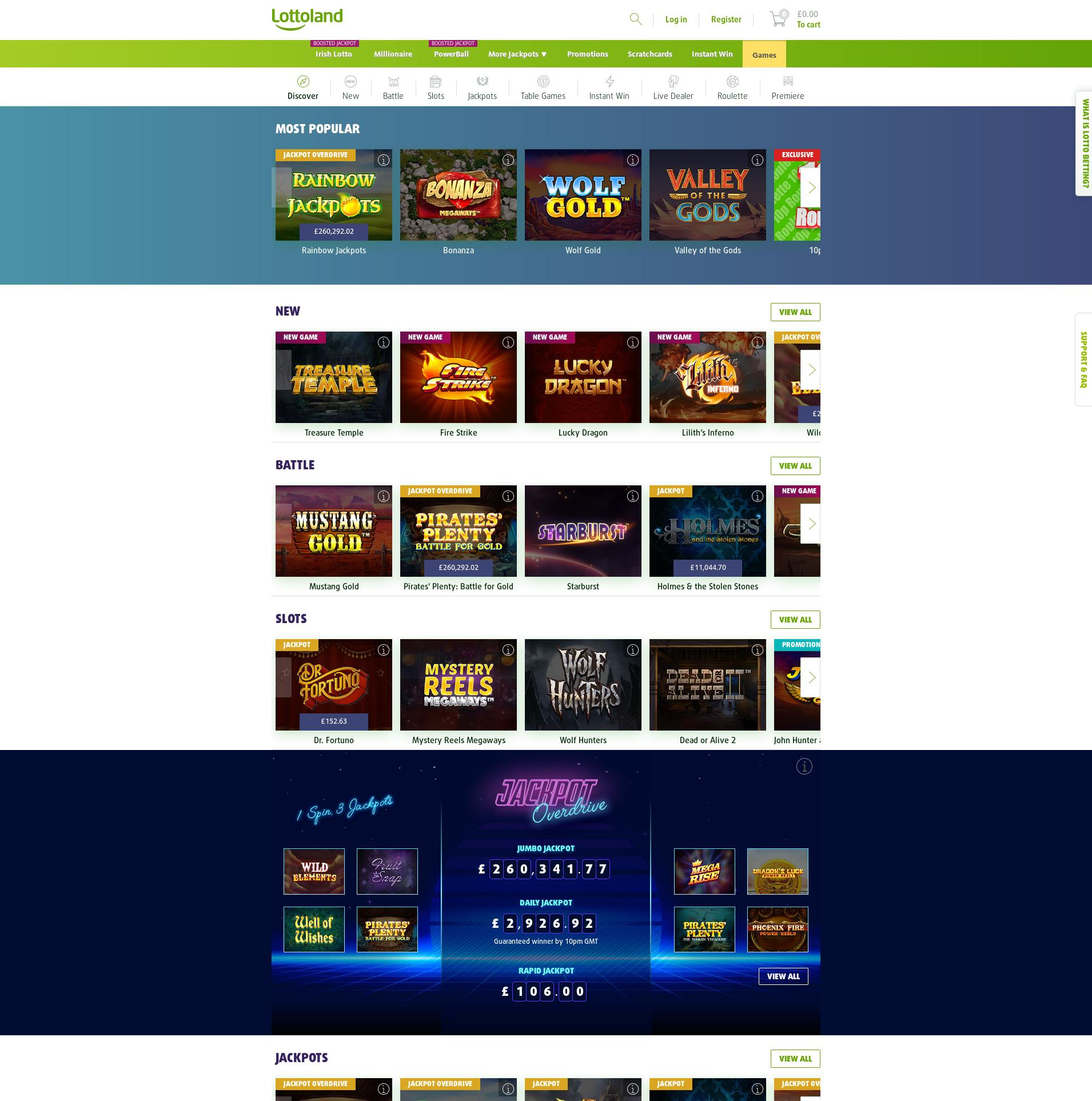 Casino screen Lobby 2019-10-13 for United Kingdom
