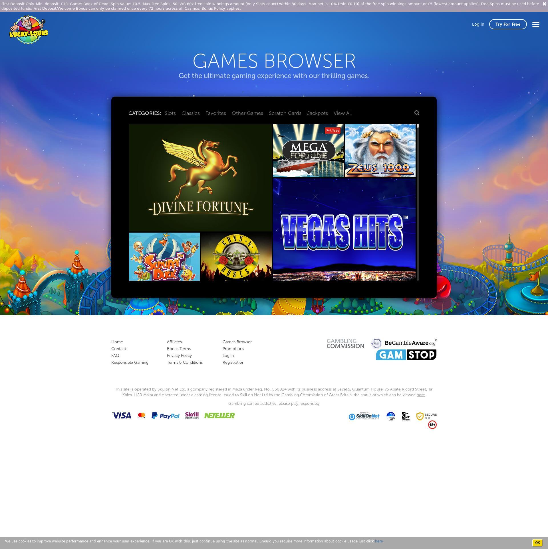 Casino skærm Lobby 2020-06-02 til Det Forenede Kongerige