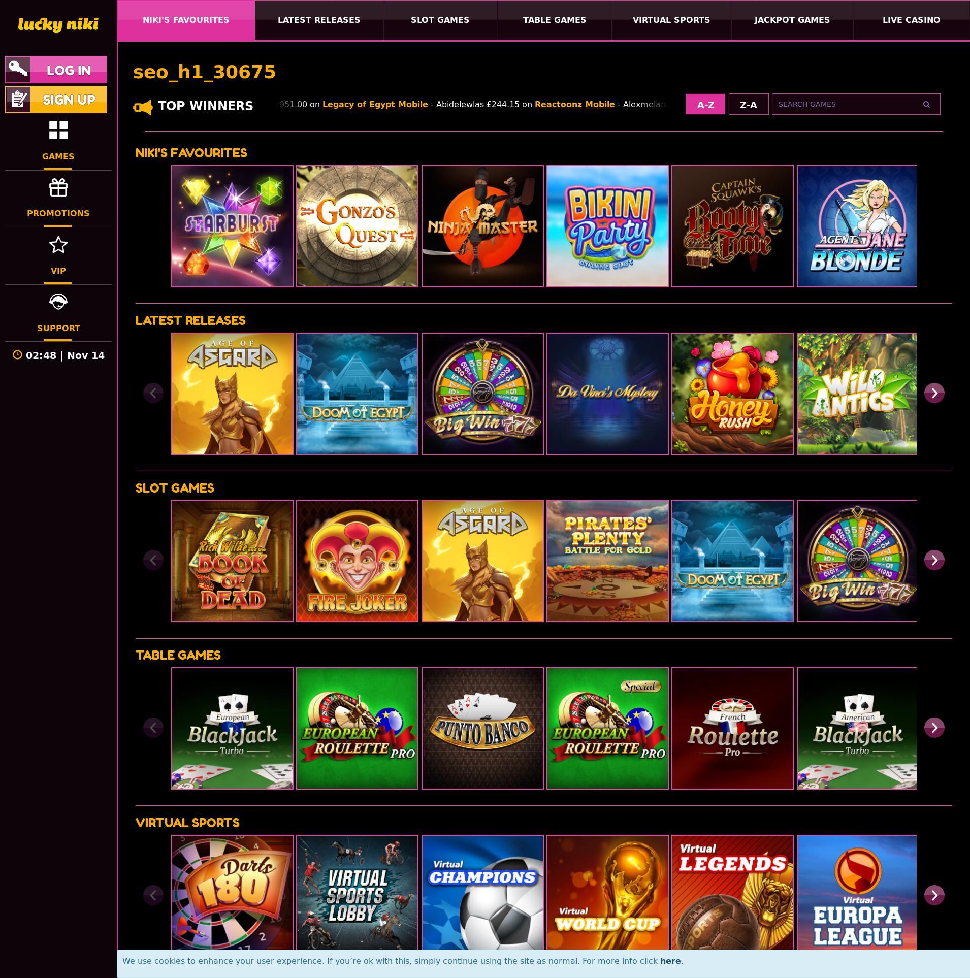 カジノのスクリーン Lobby 2019-11-14 ために イギリス